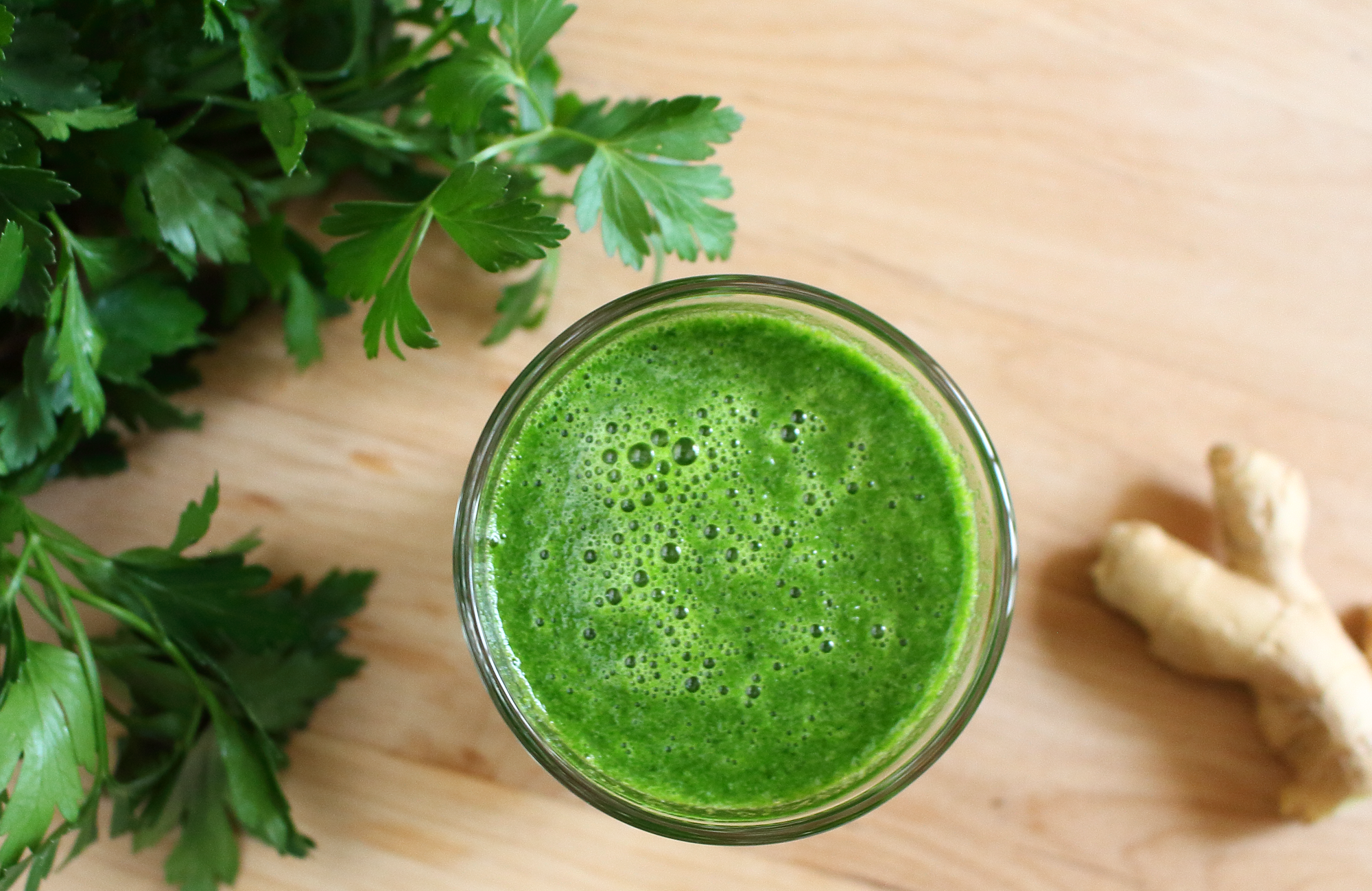 Parsley Ginger Juice - Epicure's Table
