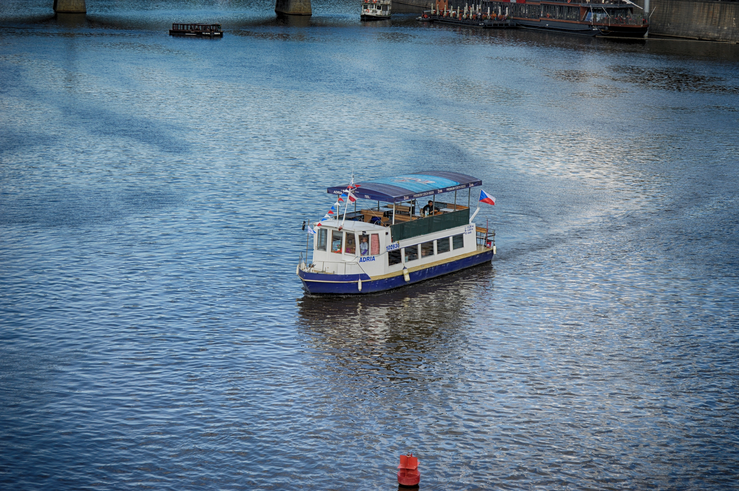 Passenger boat in prague photo