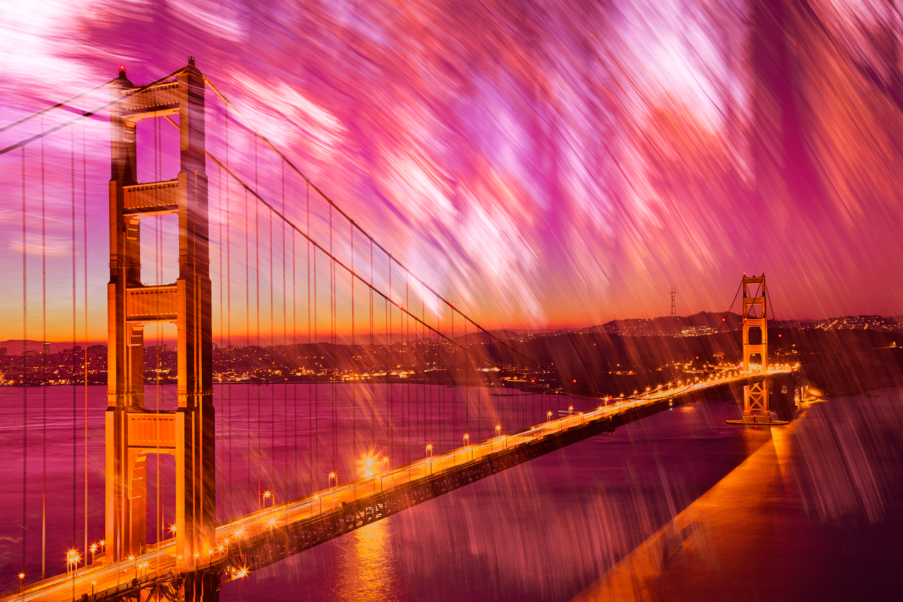 Passion Gate Bridge, Abstract, Range, Scenery, Scene, HQ Photo