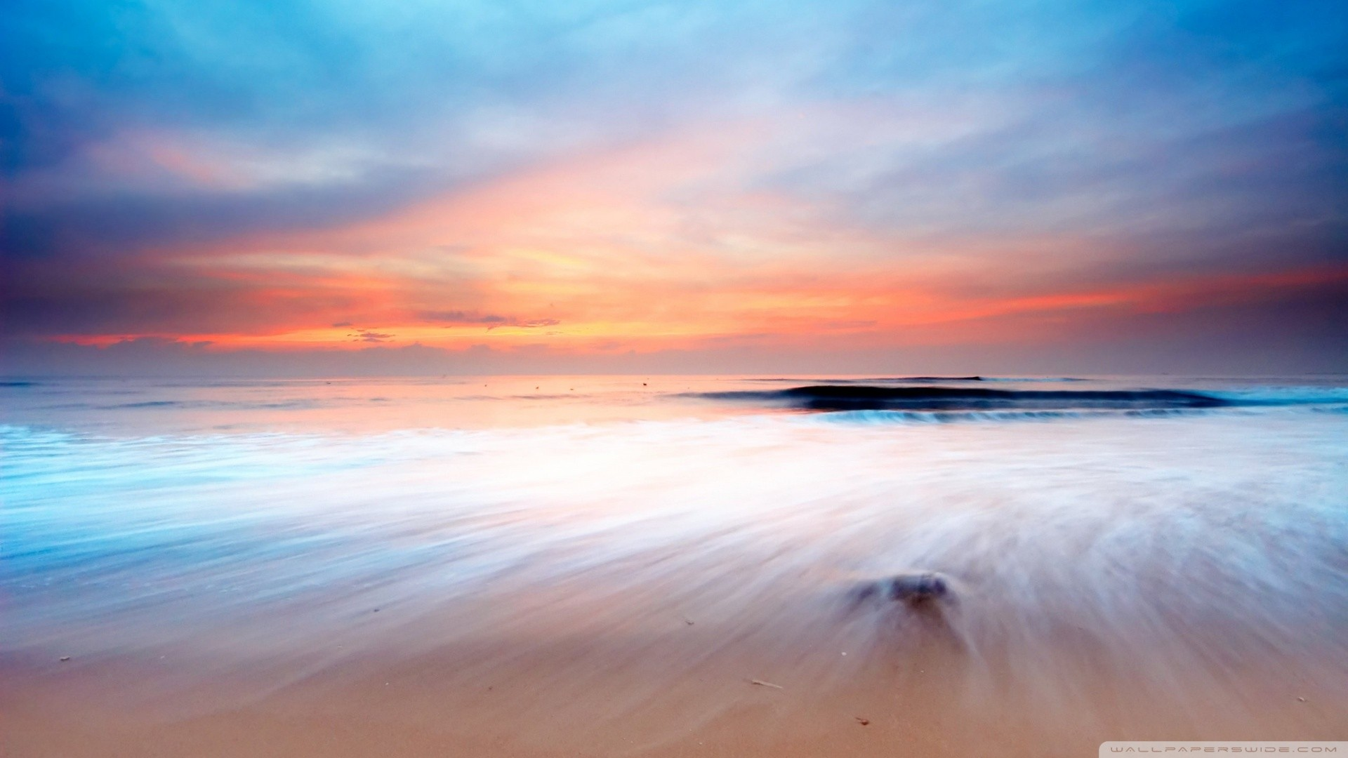 Pastel beach colors photo