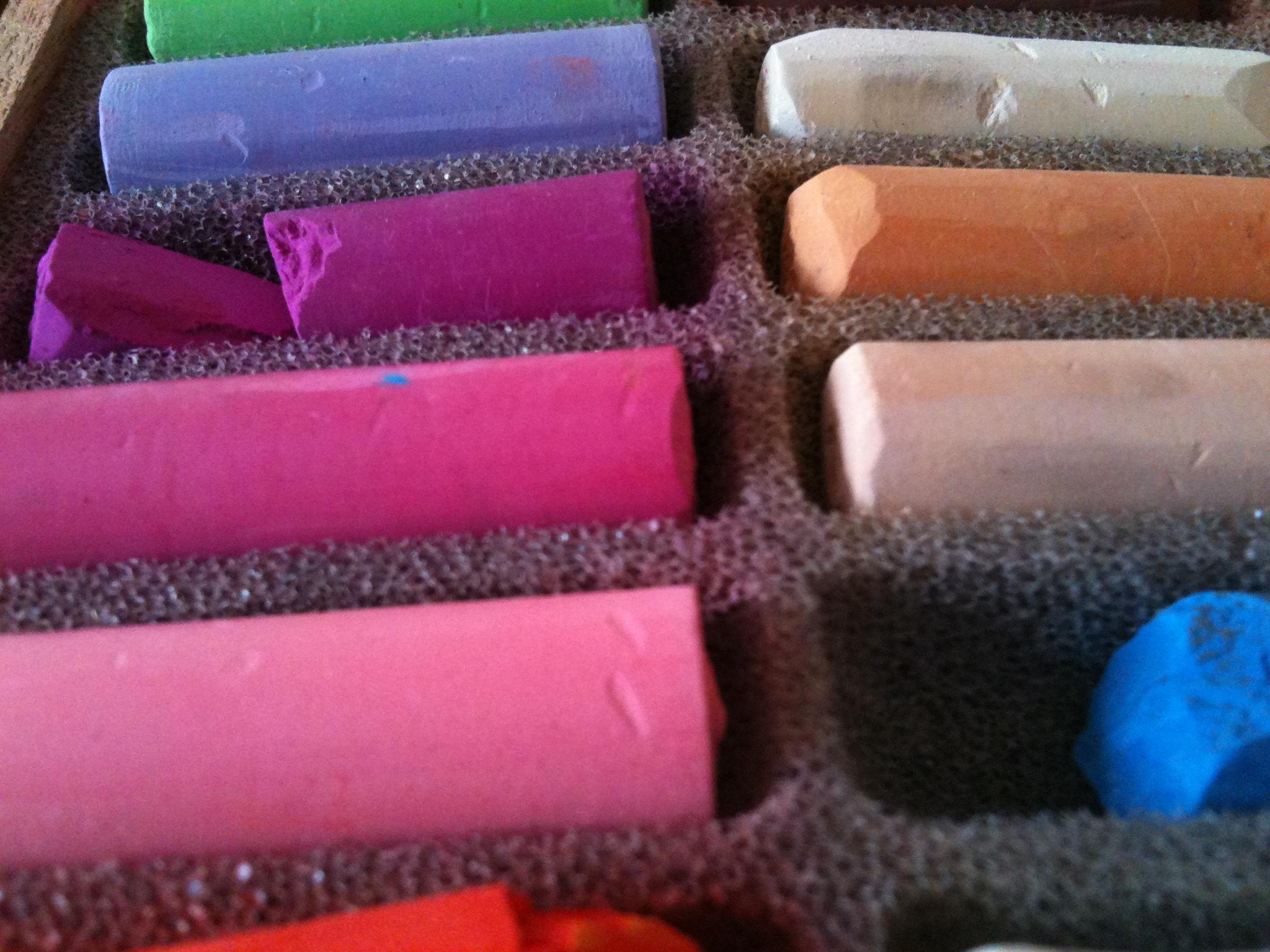 Pastel Colors, Art, Artist, Blue, Chipped, HQ Photo