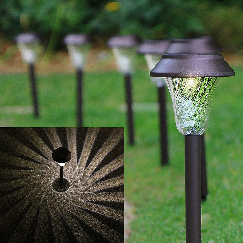 Amazon.com : Enchanted Spaces Solar Path Light, Set of 6, Bronze ...