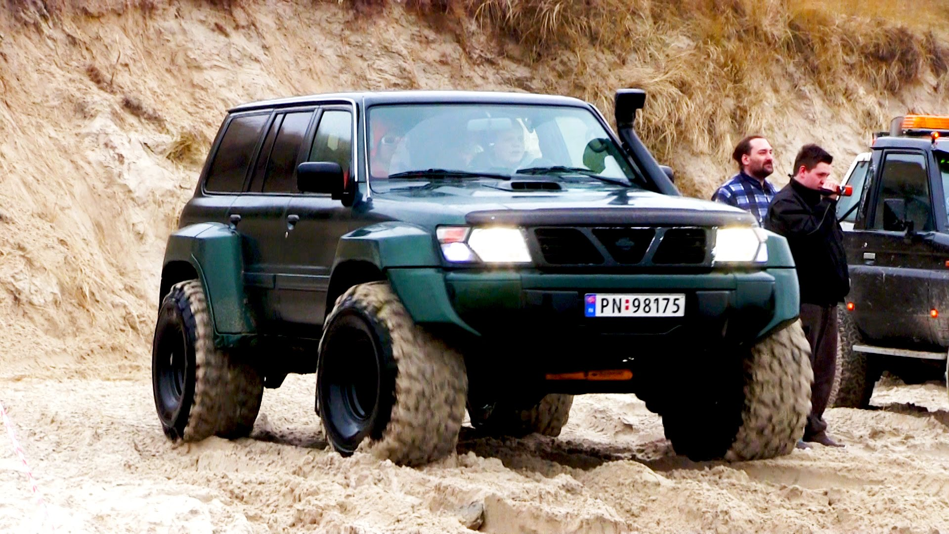 Nissan Patrol GR 4x4 at Løkken Beach Tour 2015 - YouTube