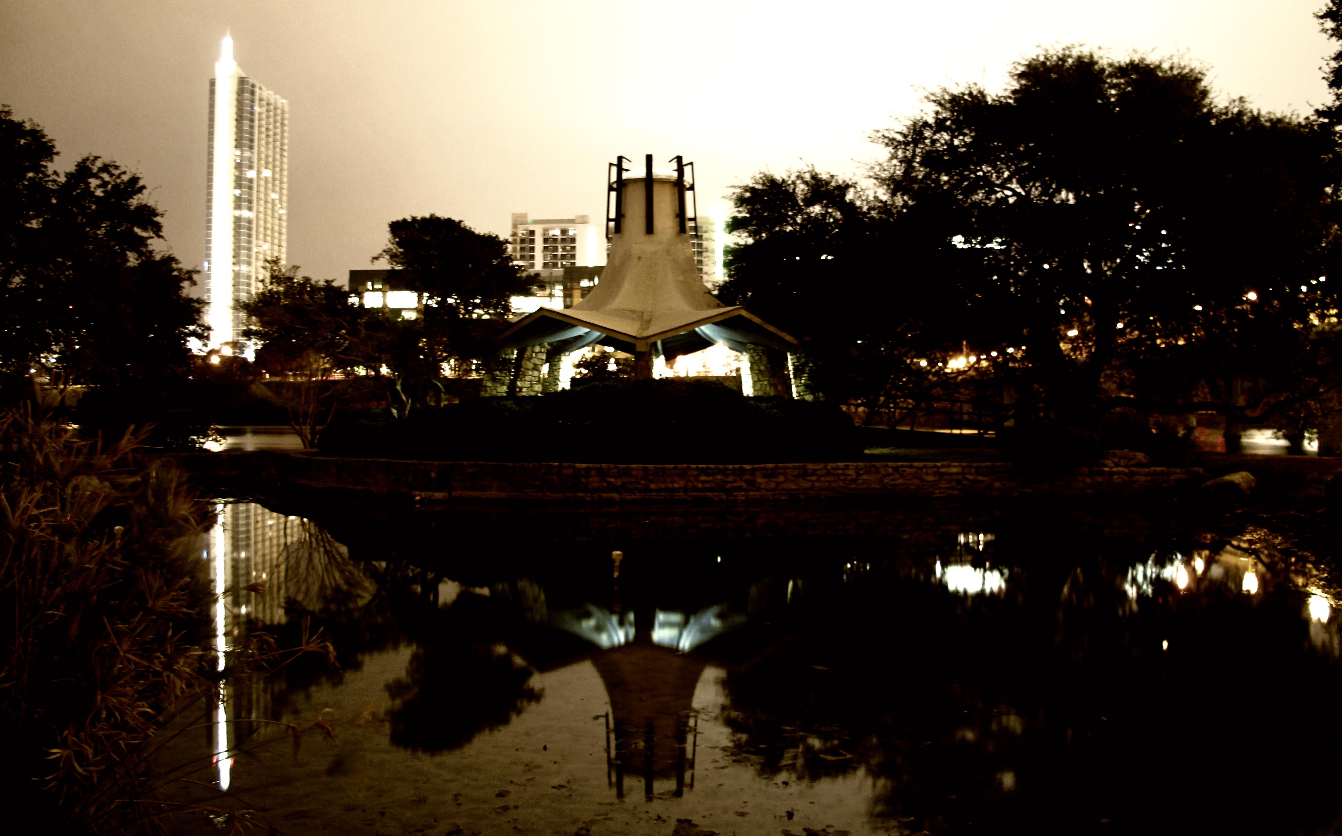 Pavilion & reflection photo