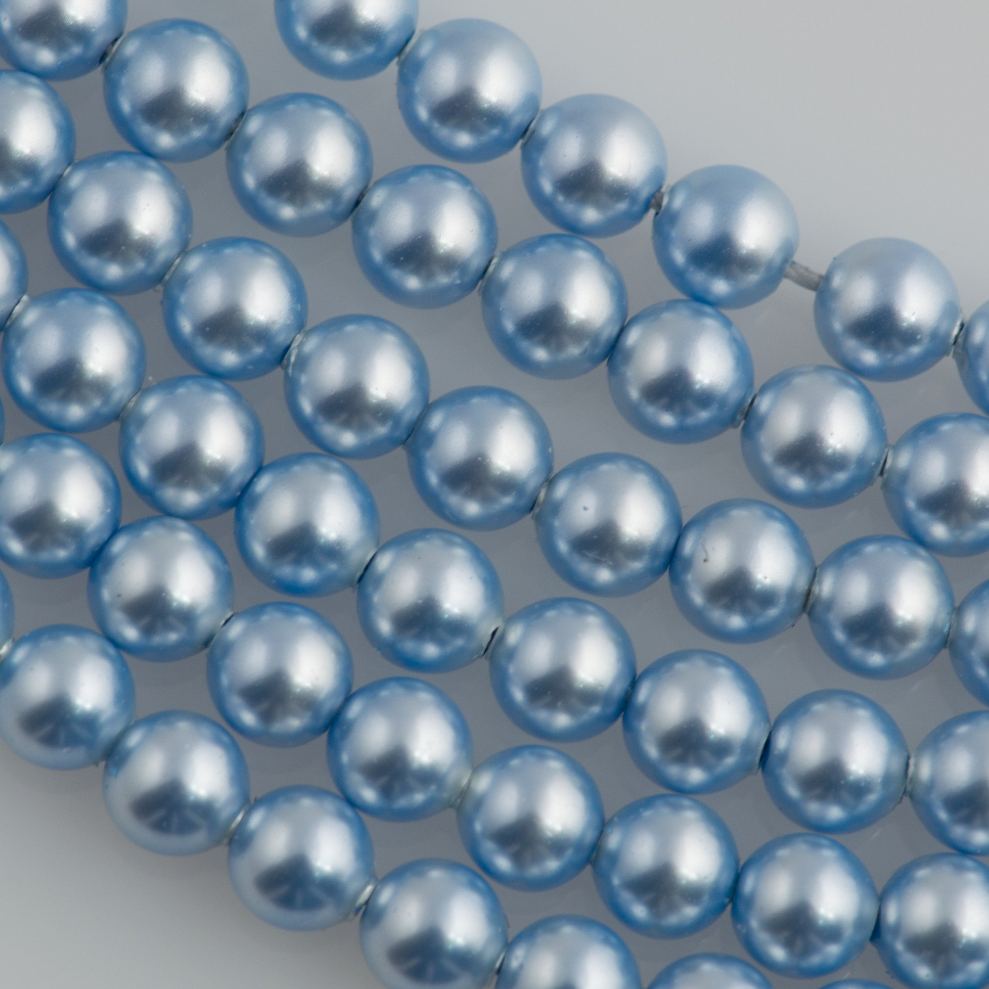 200 Swarovski 5810 3mm Round Light Blue Pearl Beads | Auracrystals