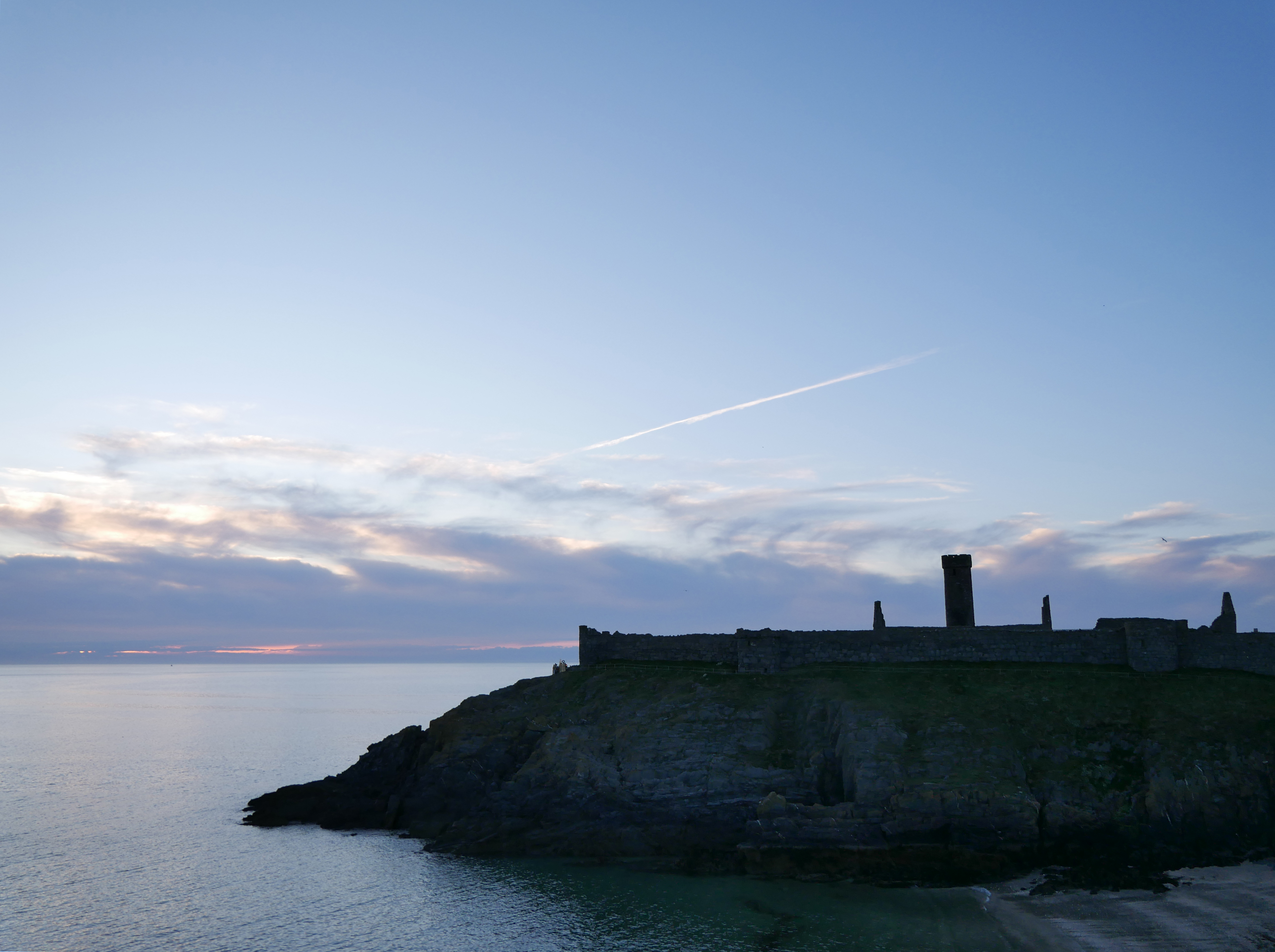 Peel Castle at Oie Voaldyn, Grass, Isle of Man, Landscape, Manx Culture, HQ Photo