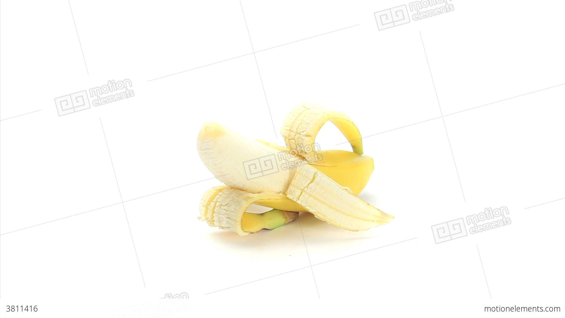 Half Peeled Banana Rotating Stock video footage | 3811416