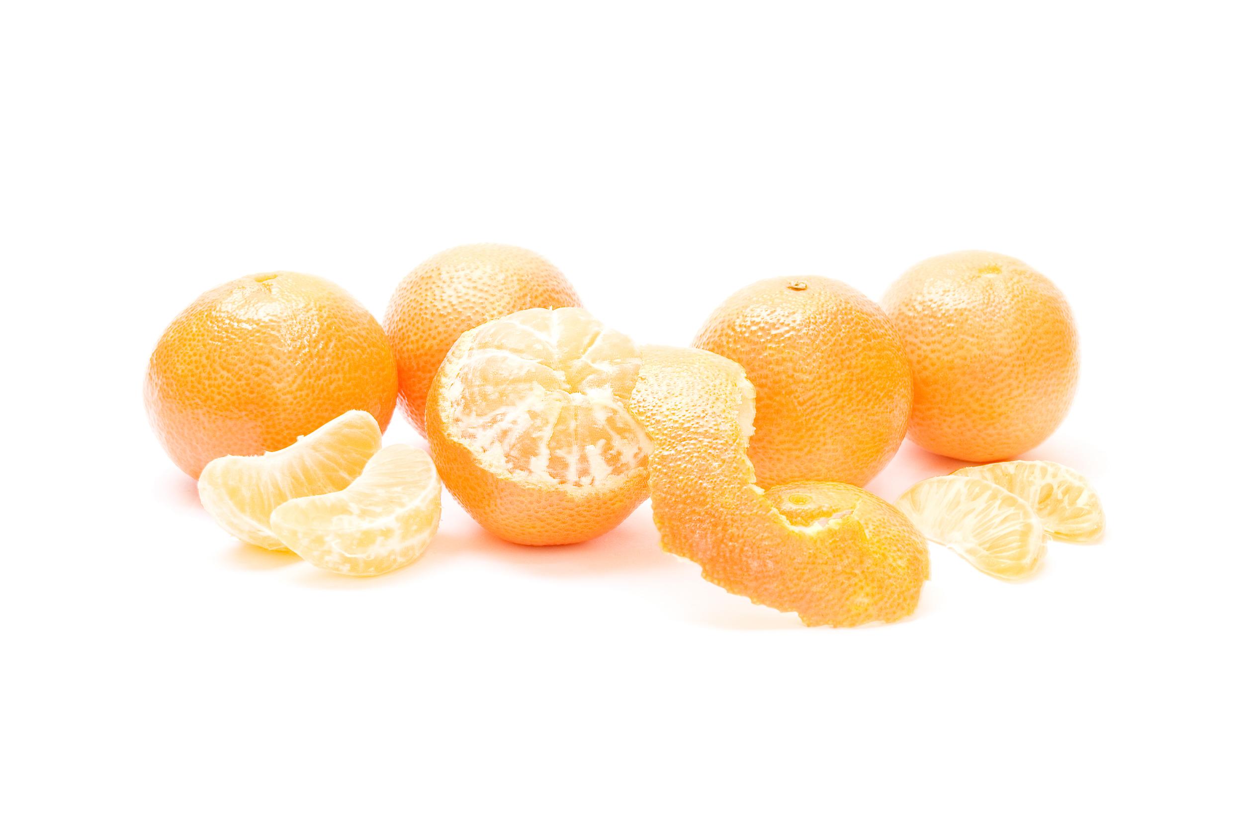 Peeled oranges photo