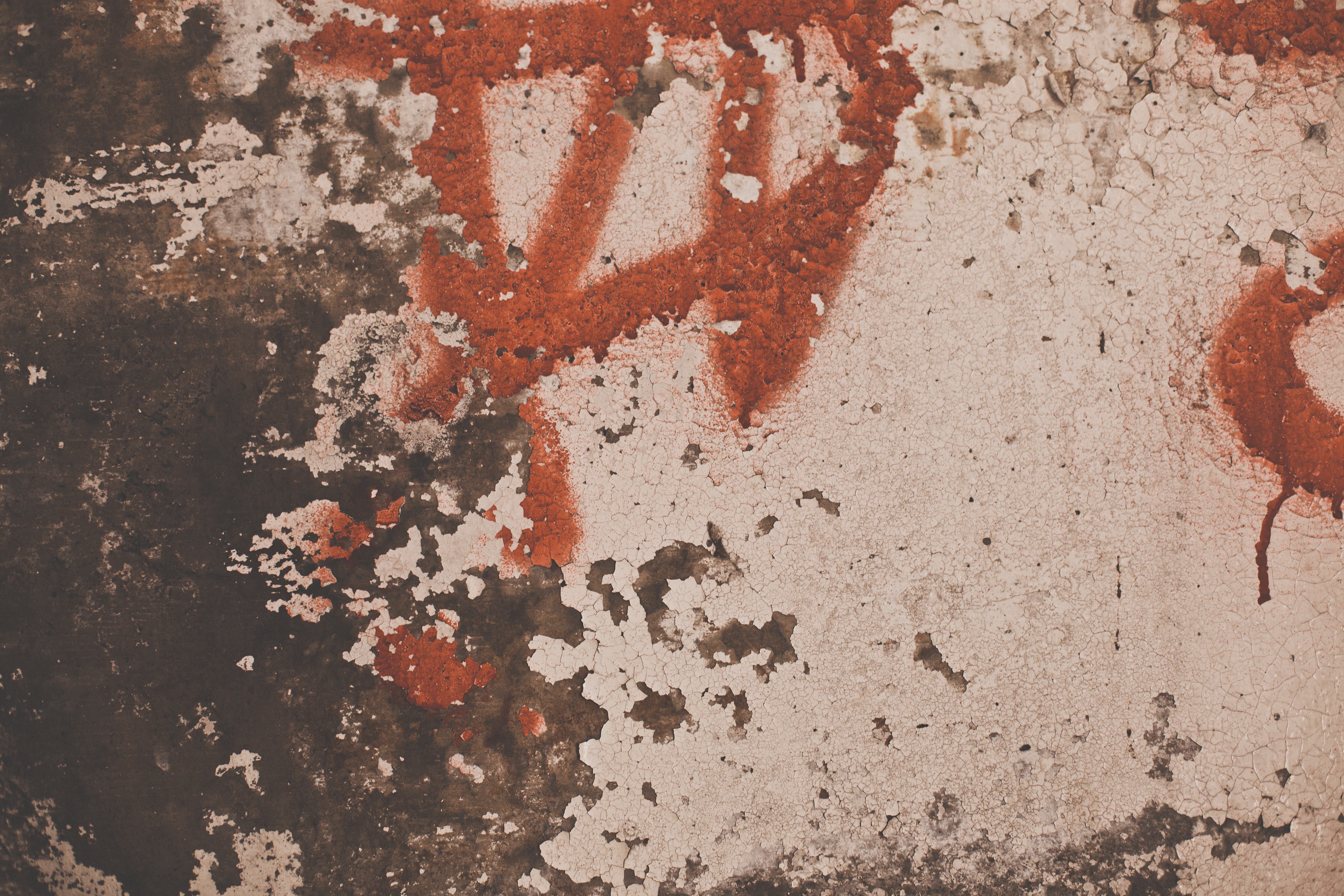 Peeled Paint on Grunge Wall Texture, Damaged, Grunge, Grungy, Overlay, HQ Photo