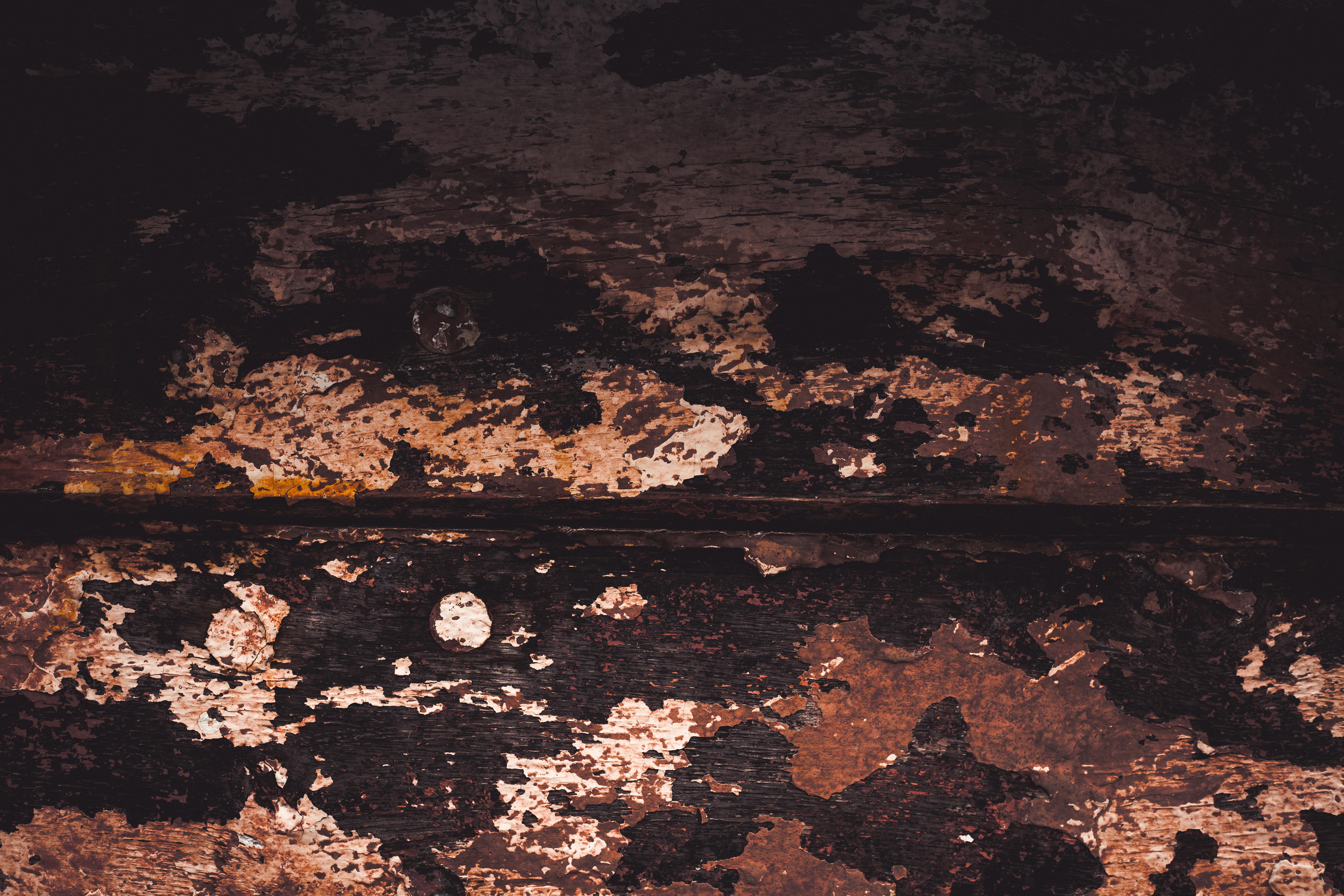 Peeled paint on wood texture photo