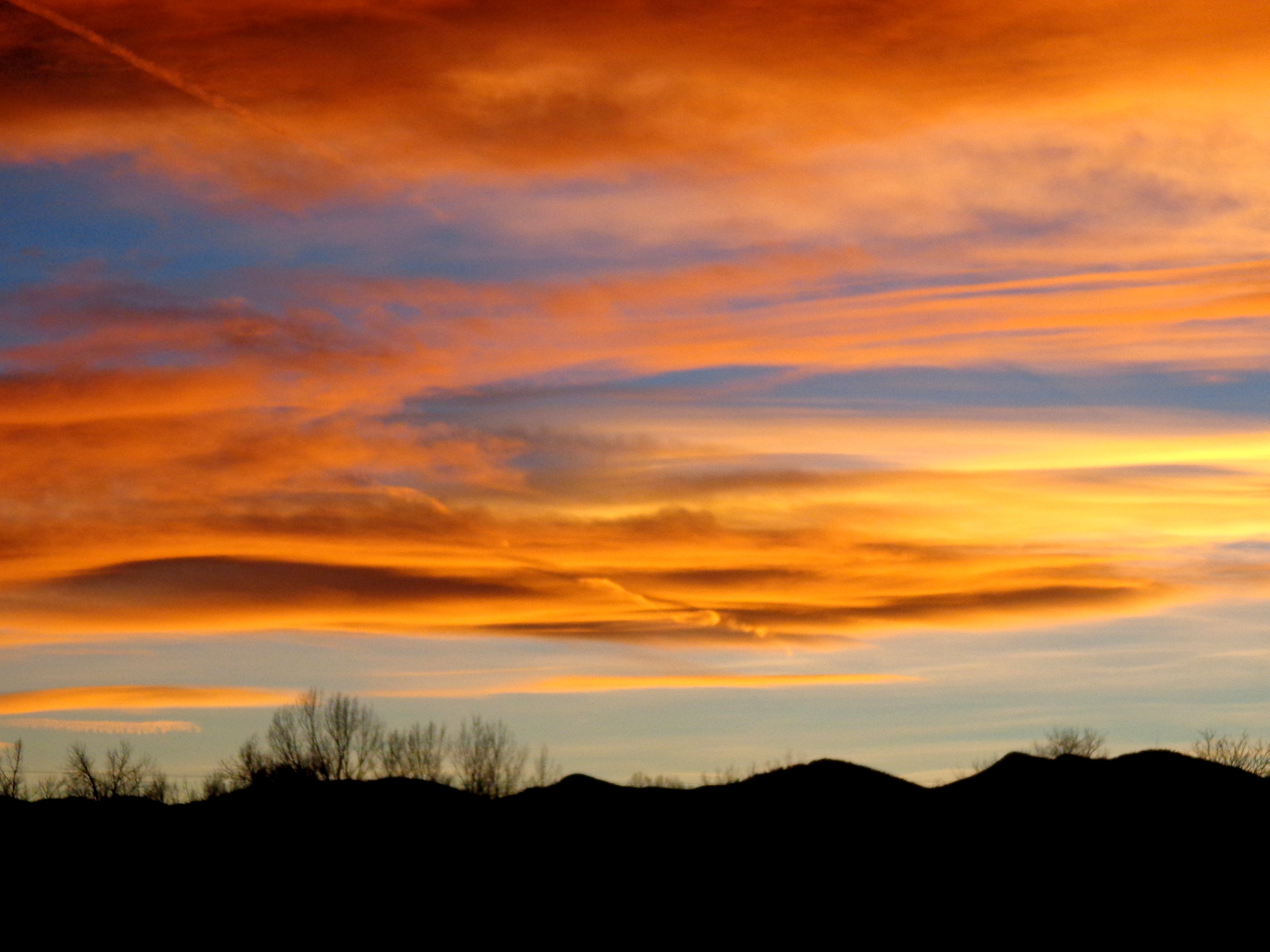 Orange and Blue Sunset over Rolling Hills Picture | Free Photograph ...