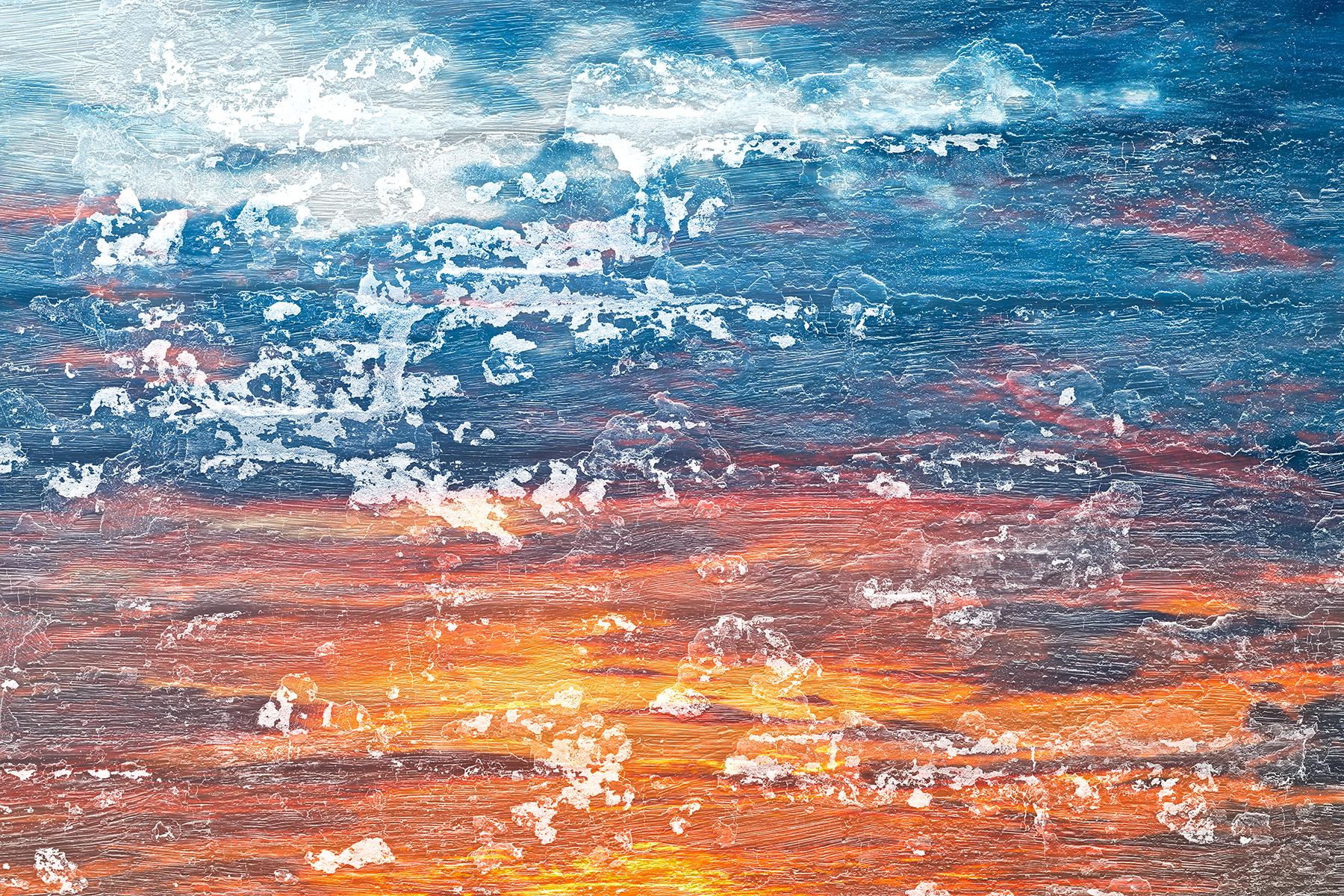 Peeling Paint Sunset, Abstract, Orange, Raw, Purple, HQ Photo