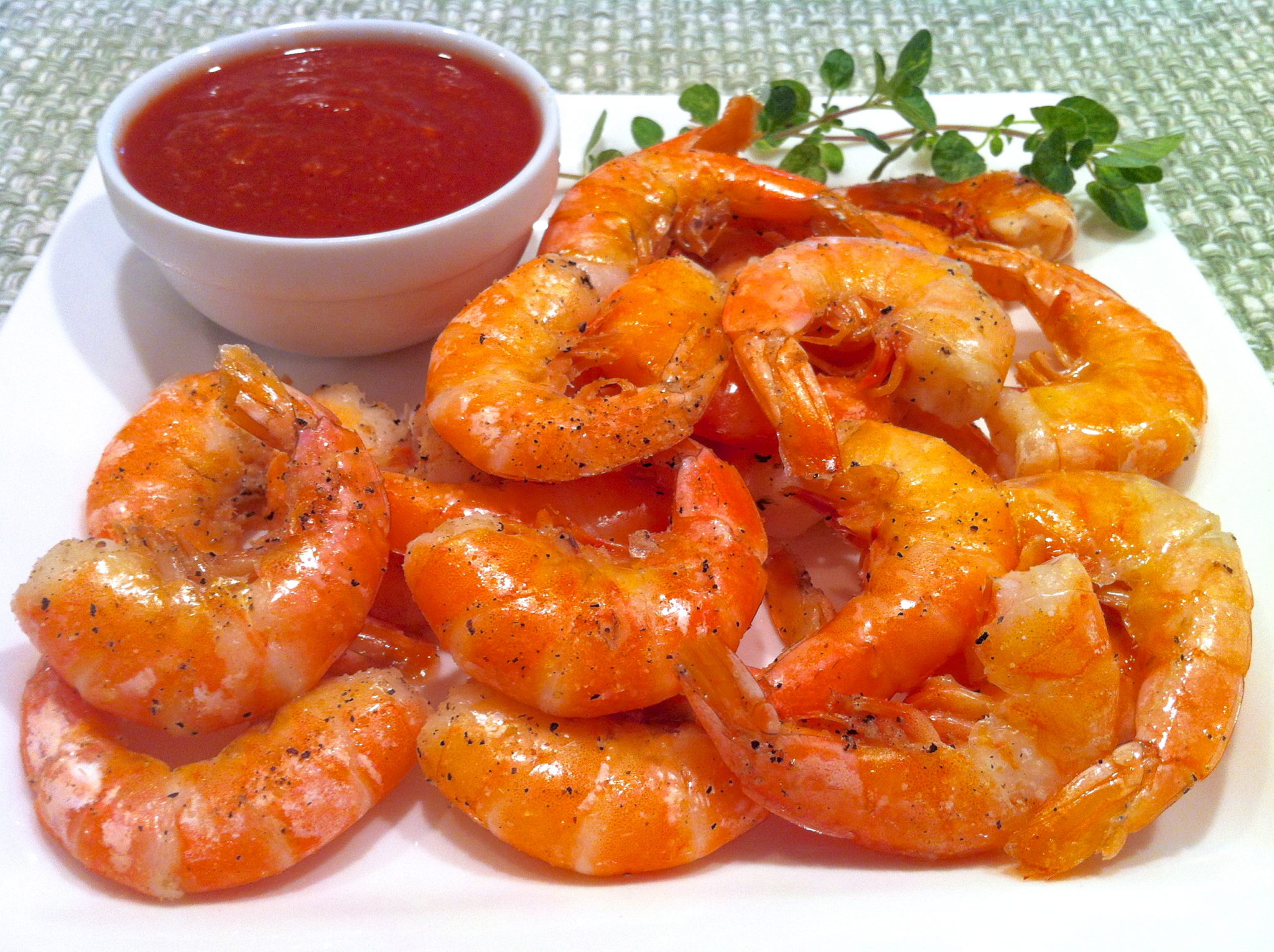 Roasted Peel-and-Eat Shrimp with Homemade Cocktail Sauce – The ...