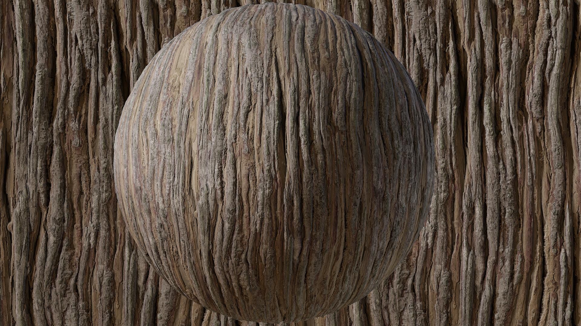 ArtStation - Cypress Bark - Substance Material, Peter Sekula