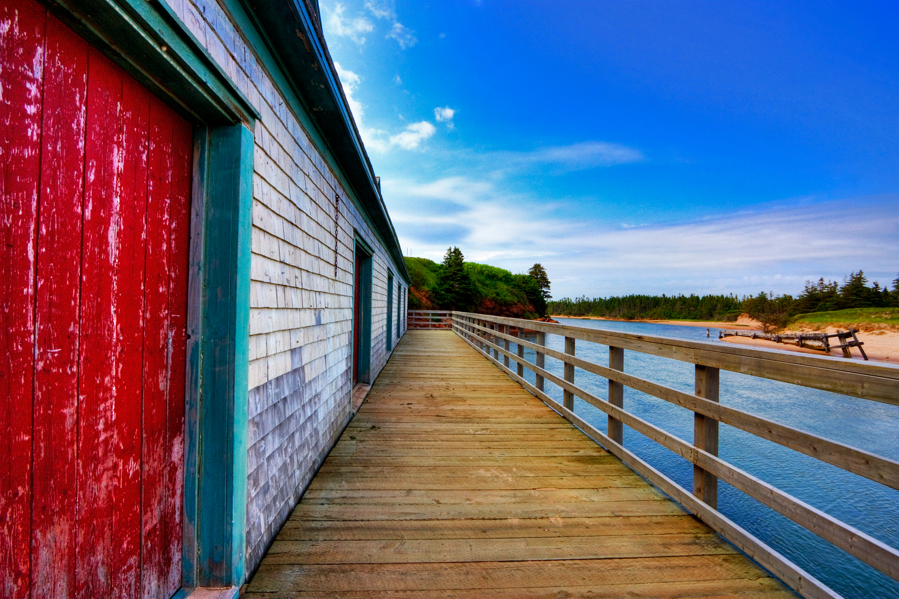 Pei beach boardwalk - hdr photo
