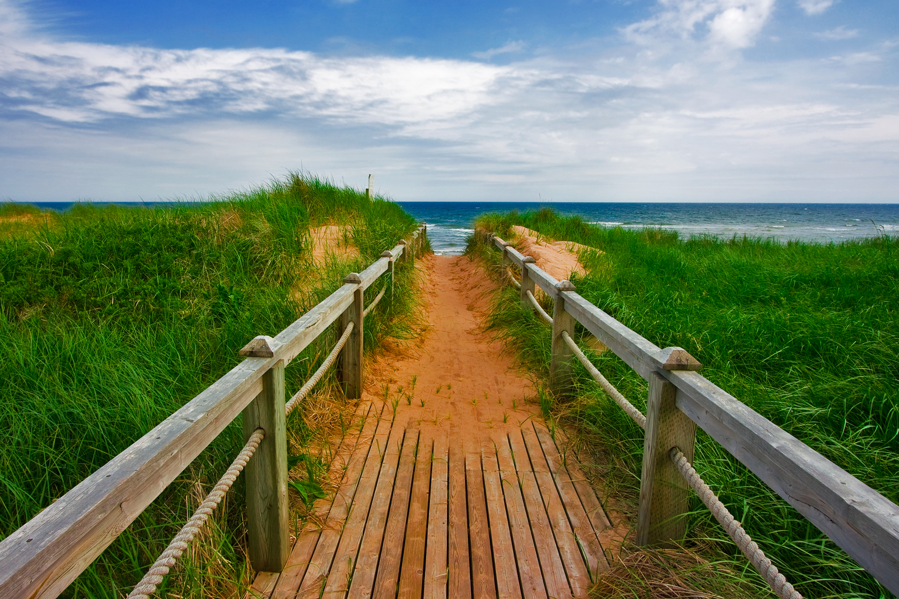 PEI Beach Boardwalk, Angle, Prince, Resource, Sand, HQ Photo