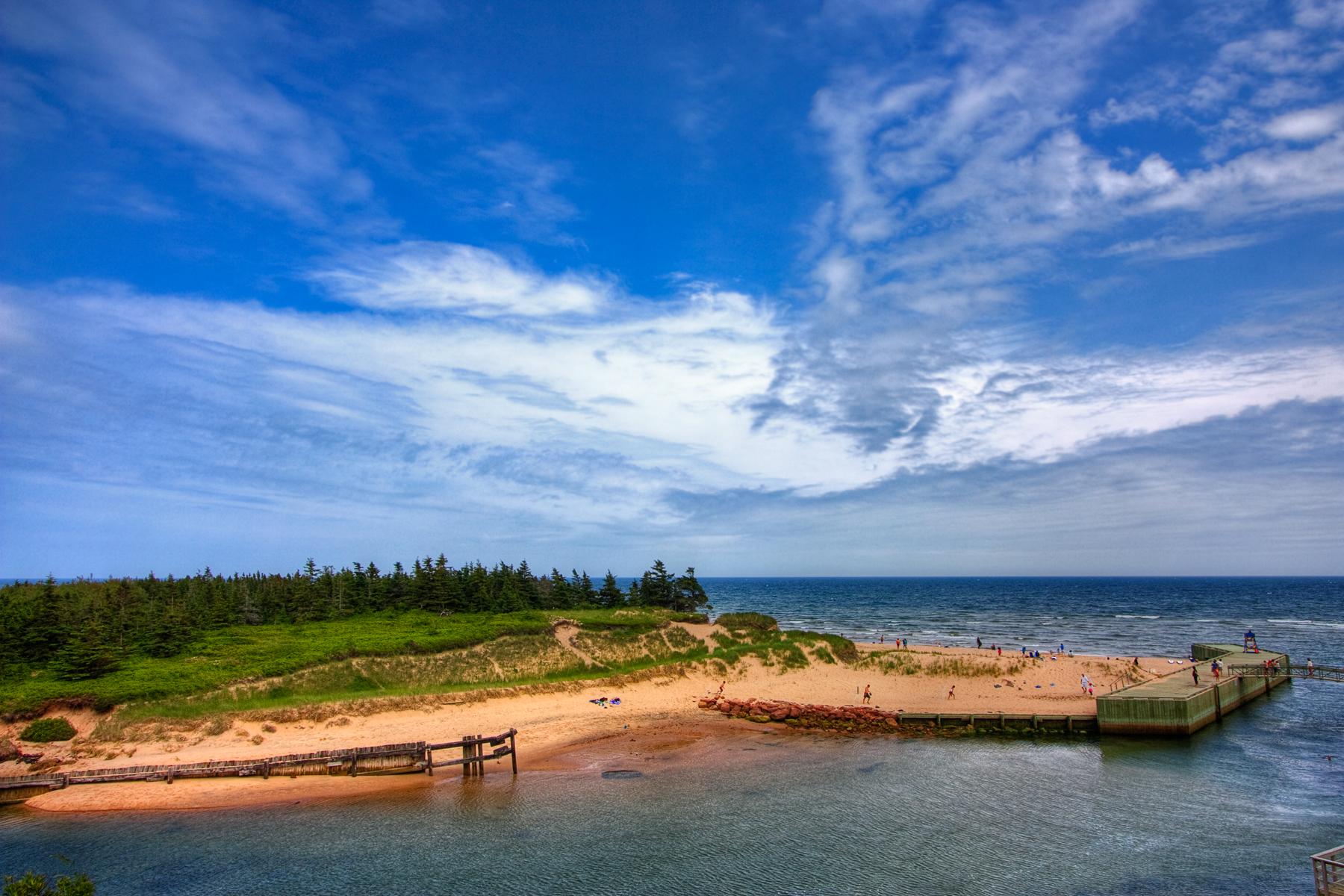 Pei beach scenery - hdr photo