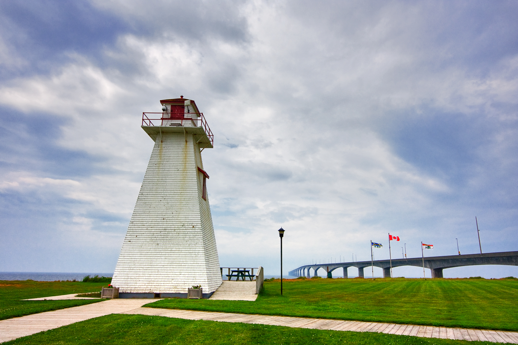 PEI Lighthouse - HDR, Architectural, Picture, Island, Landmark, HQ Photo