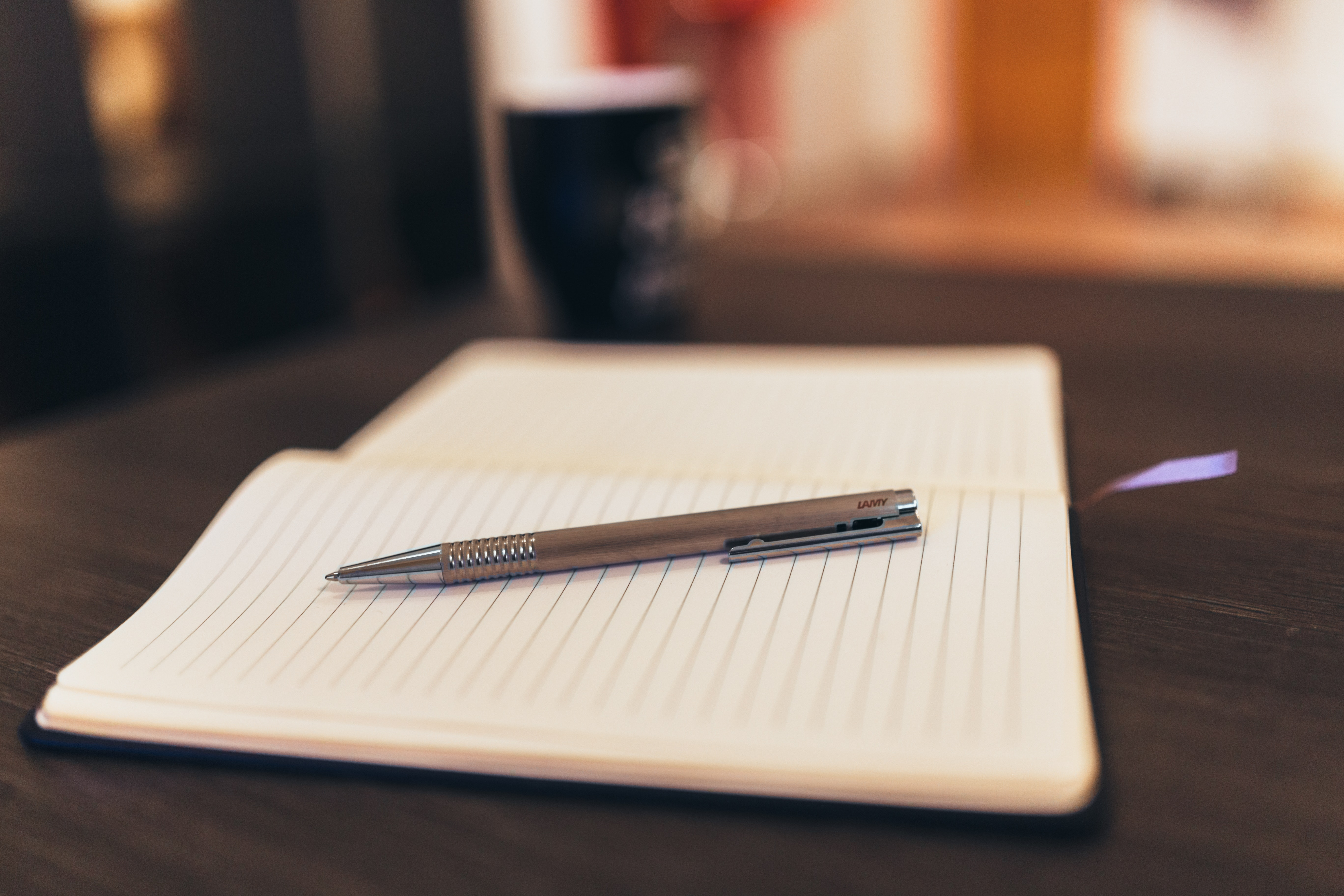 Pen on Notepad Paper, Book, Coffee, Copy, Education, HQ Photo