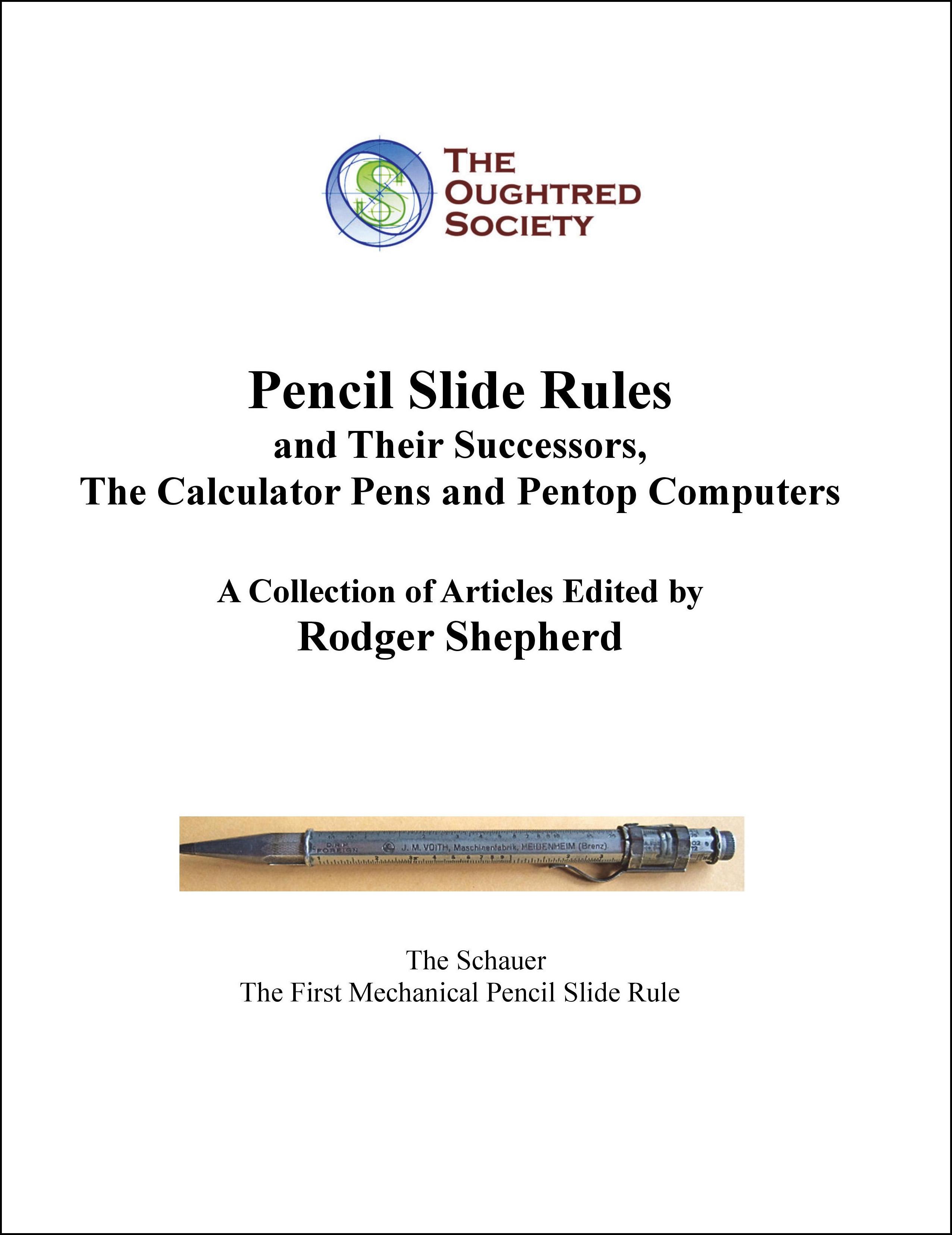 Pencil Slide Rules
