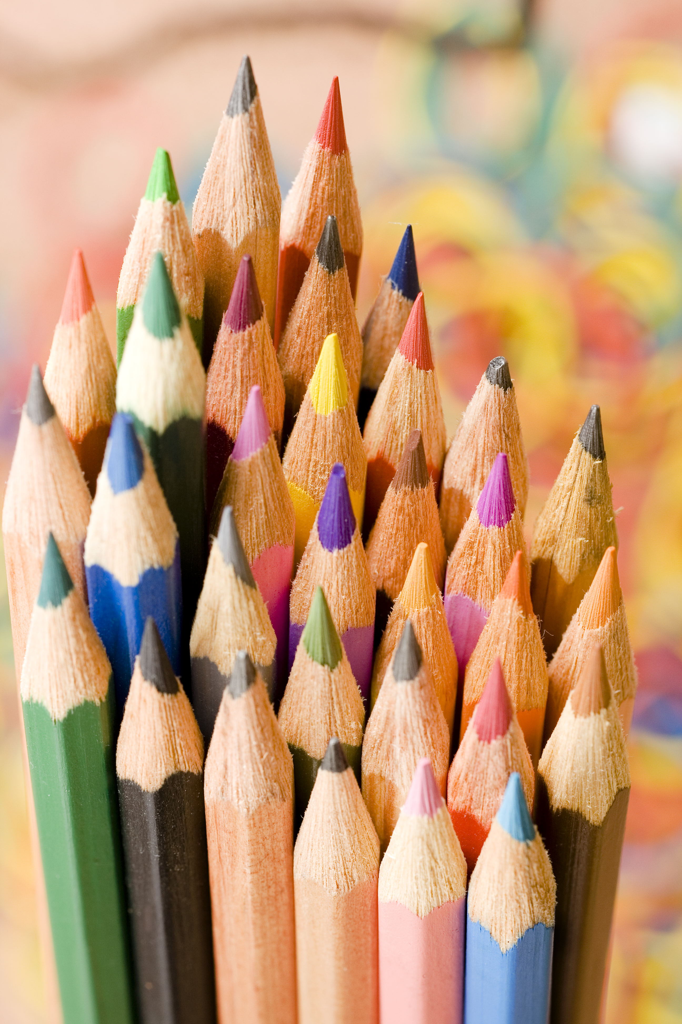 pencils, Art, Wooden, Wood, White, HQ Photo