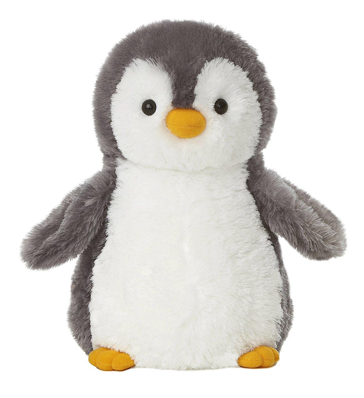 Amazon.com: Aurora World Destination Nation Gray Penguin Plush, 12 ...