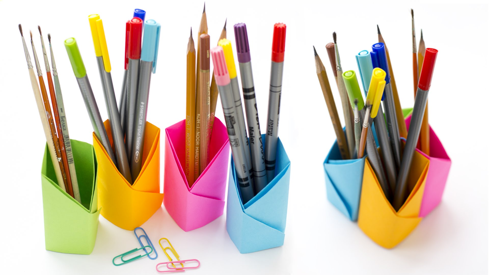 How to Make Pen Stand Easy [Paper Pen Holder] - DIY Paper Pencil ... | 1080x1920