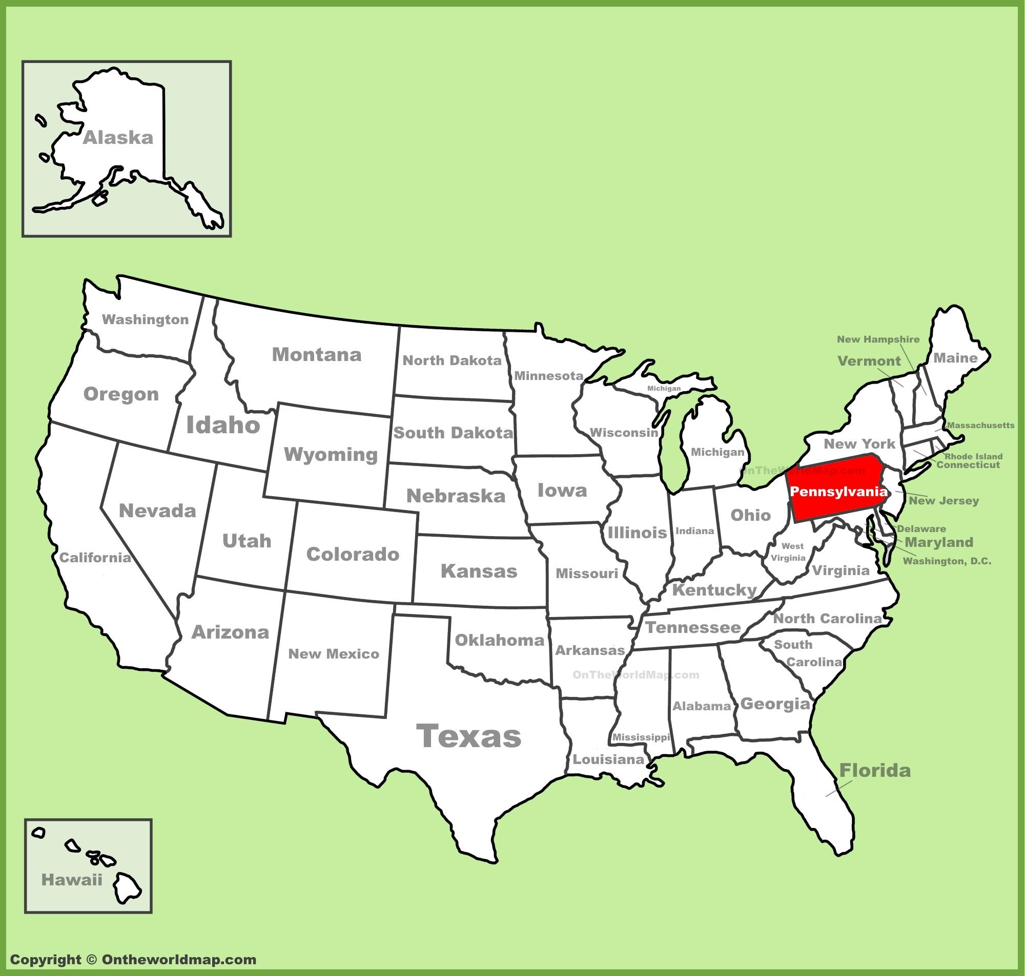 Pennsylvania State Maps | USA | Maps of Pennsylvania (PA)