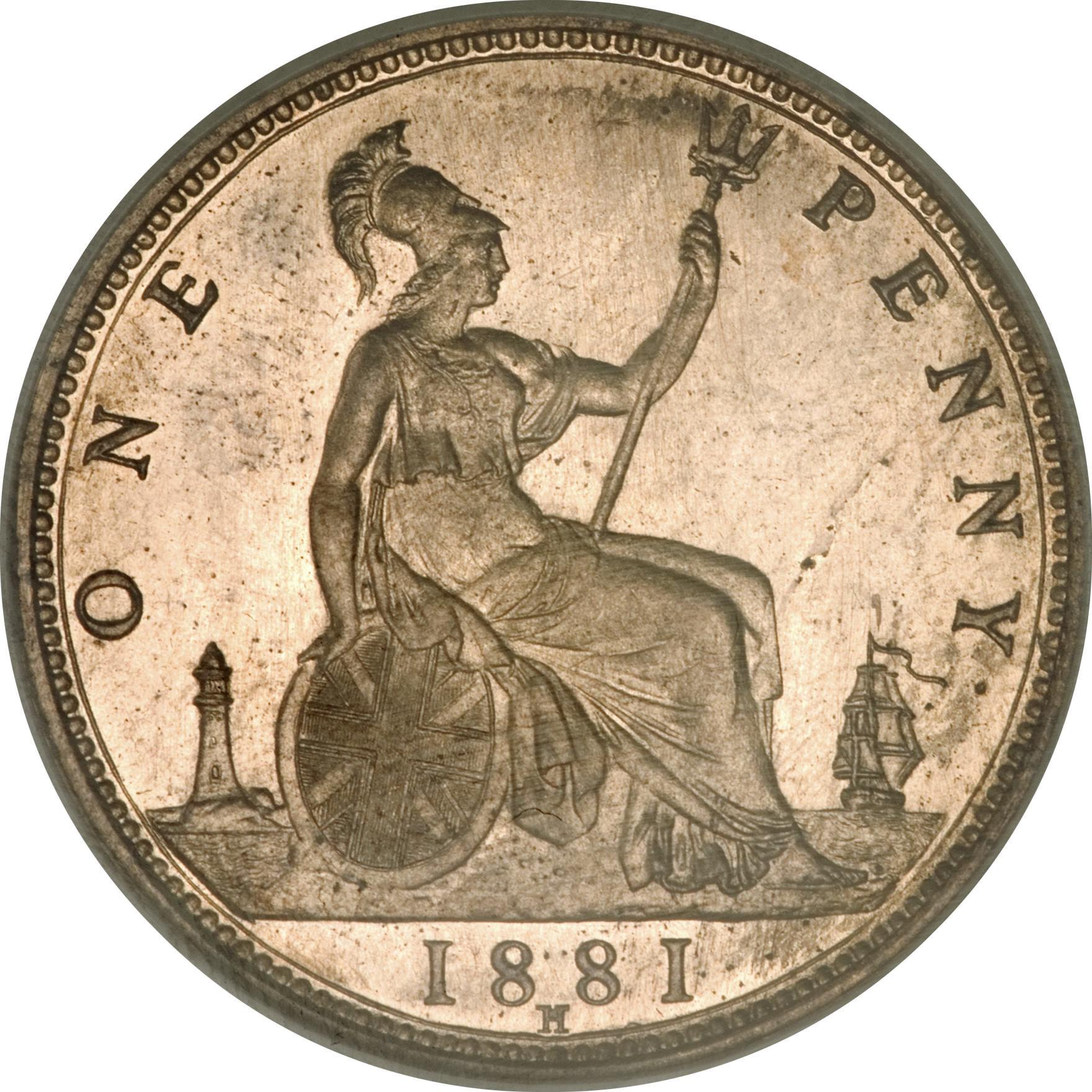 1 Penny - Victoria (2nd portrait) - United Kingdom – Numista