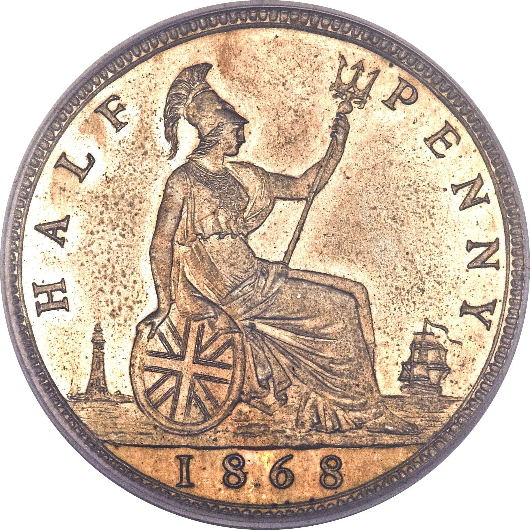 ½ Penny - Victoria (2nd portrait) - United Kingdom – Numista