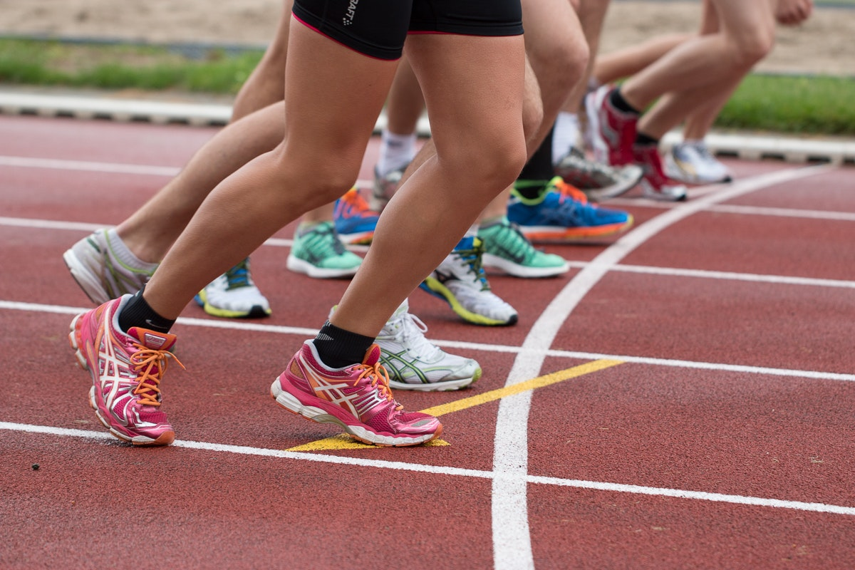 People Doing Marathon, Action, Rubber shoes, Track and field, Start, HQ Photo