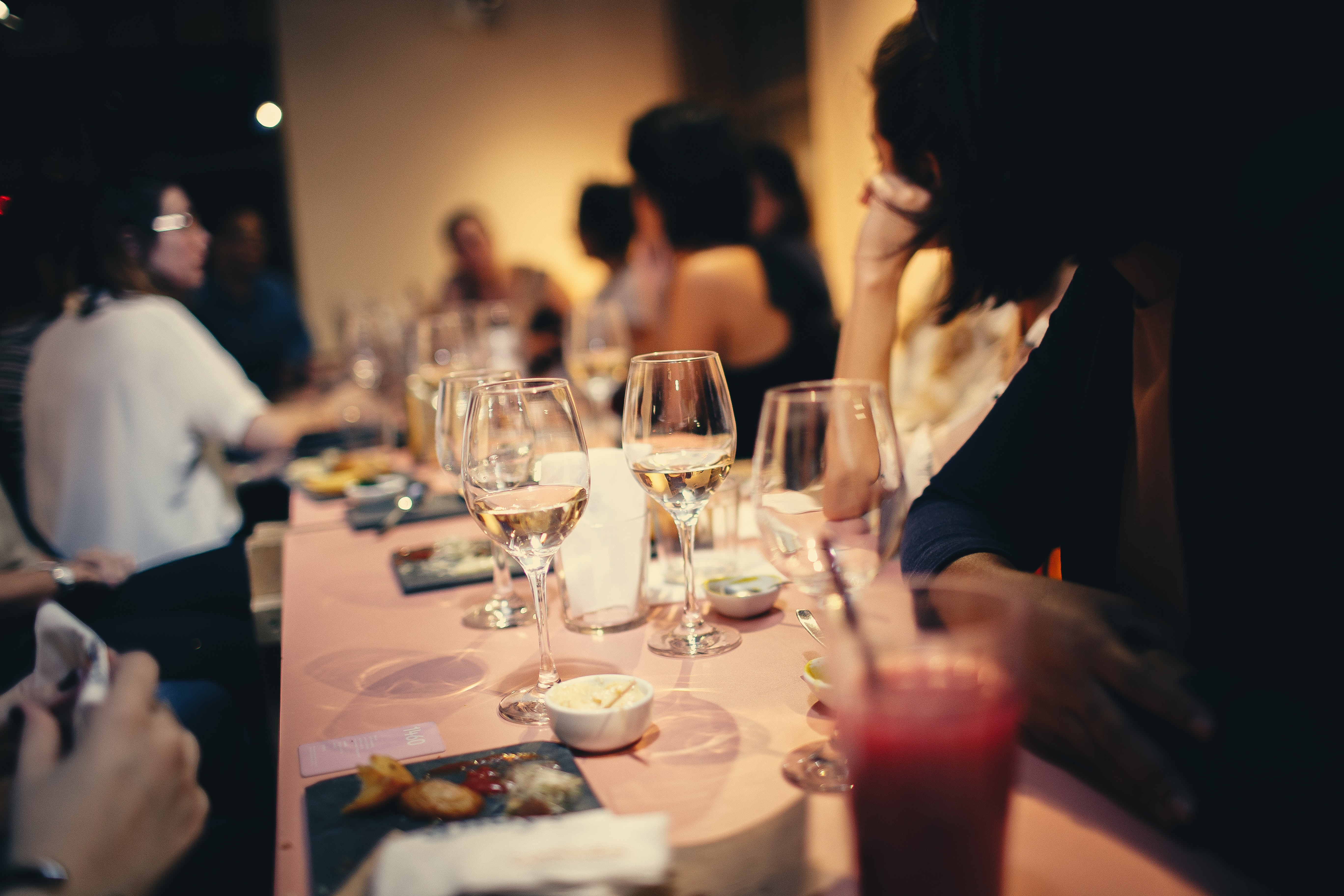 People Having Wine In A Restaurant, Celebration, Wine, Tableware, Table setting, HQ Photo