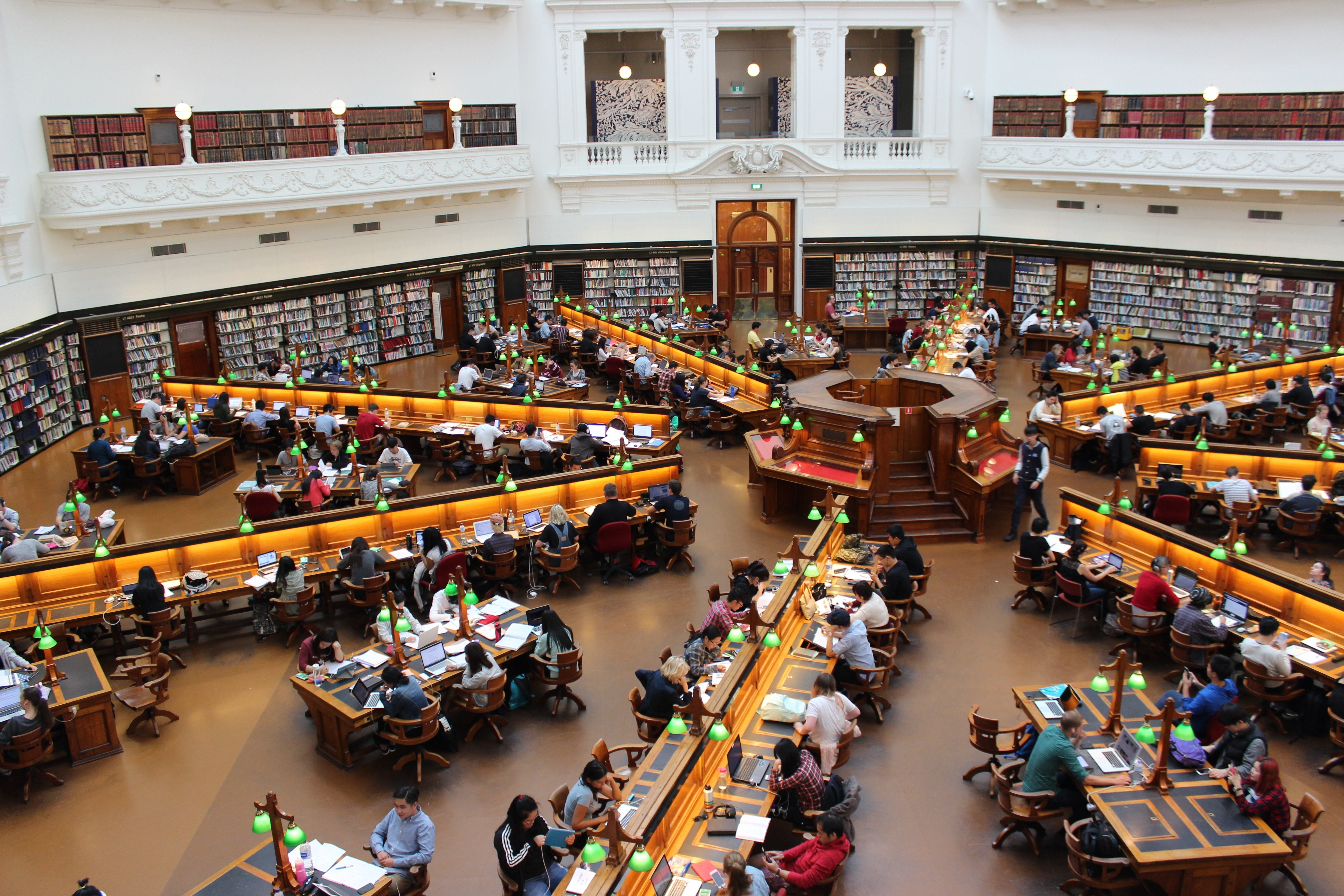 People Sitting Inside Well Lit Room, Academic, Library, Tables, Studying, HQ Photo