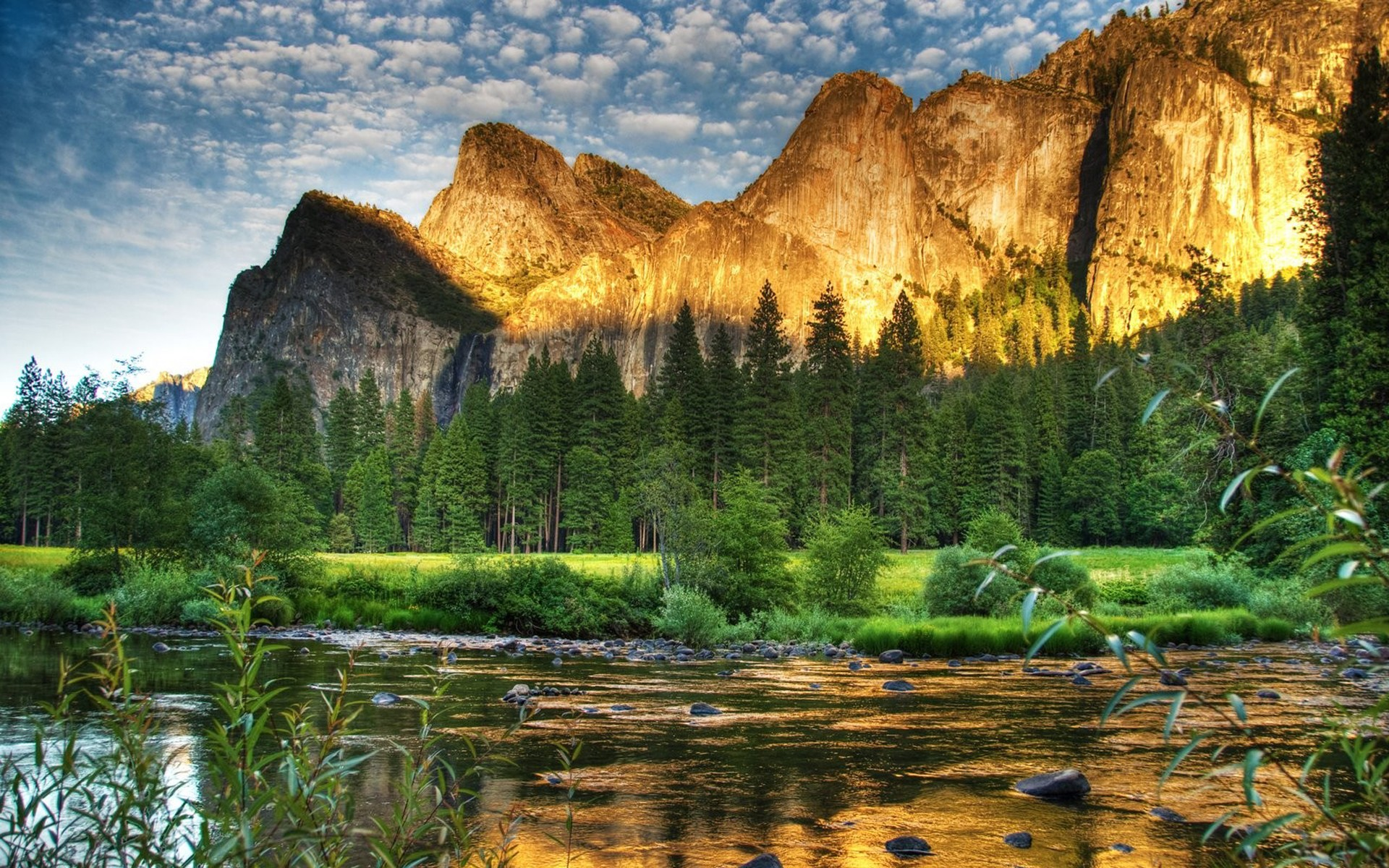 Mountains: Park Earth River Perfect Landscape Mountains Clouds ...