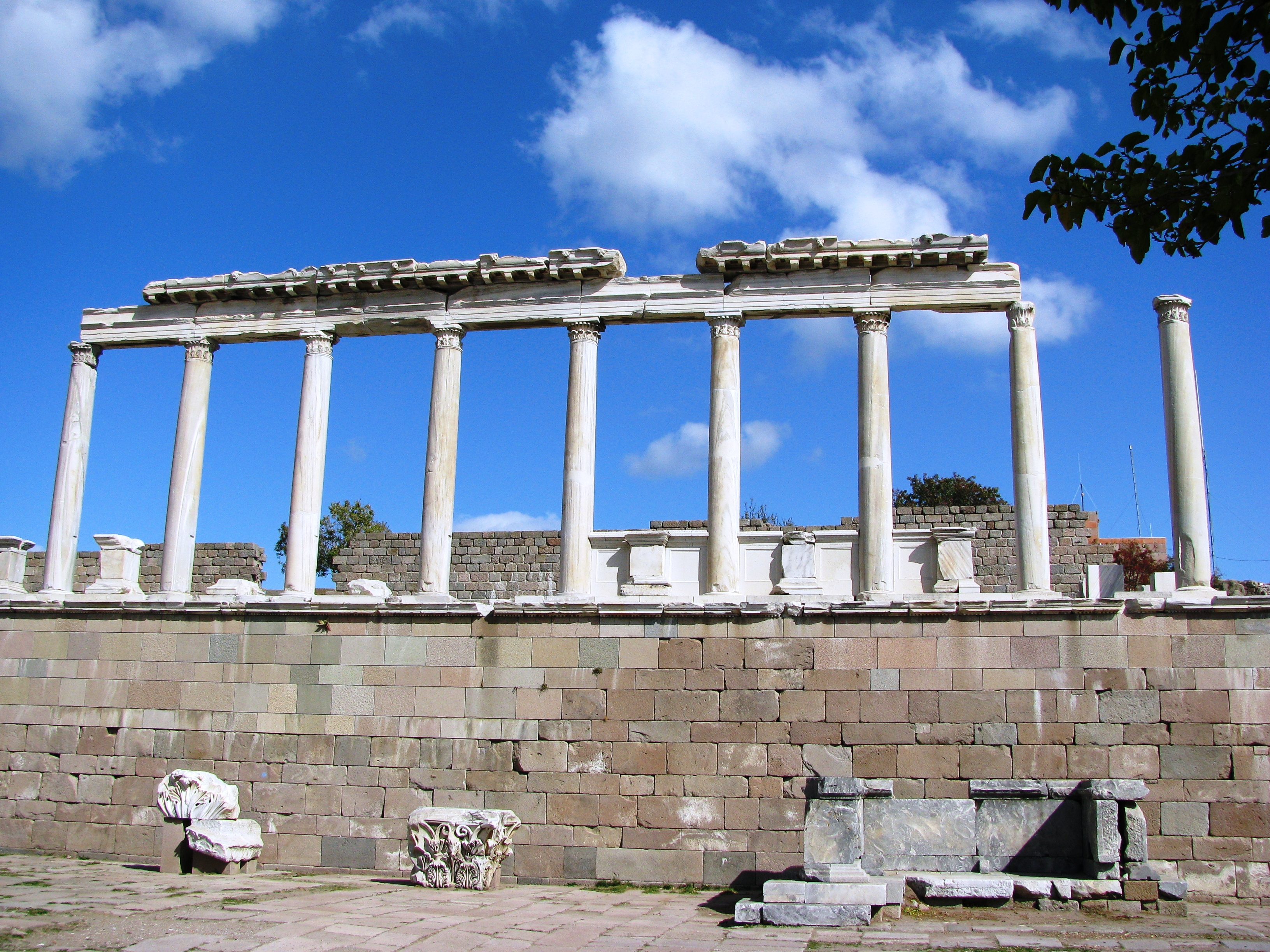 Pergamon Columns, Ancient, Bergama, Columns, Emperor, HQ Photo