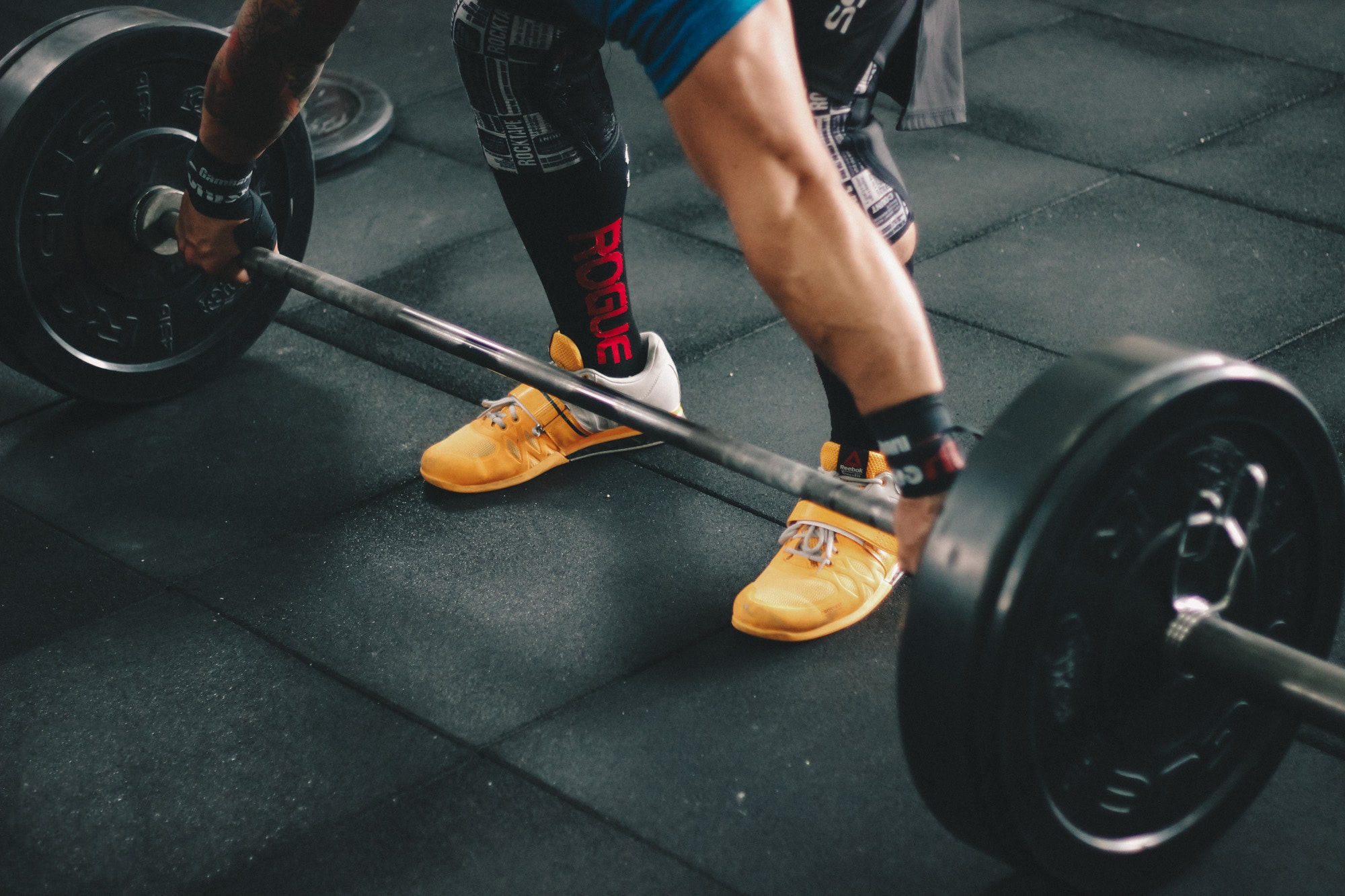 Person About to Start Lifting the Barbell Inside the Gym, Action, Sports equipment, Muscles, Person, HQ Photo