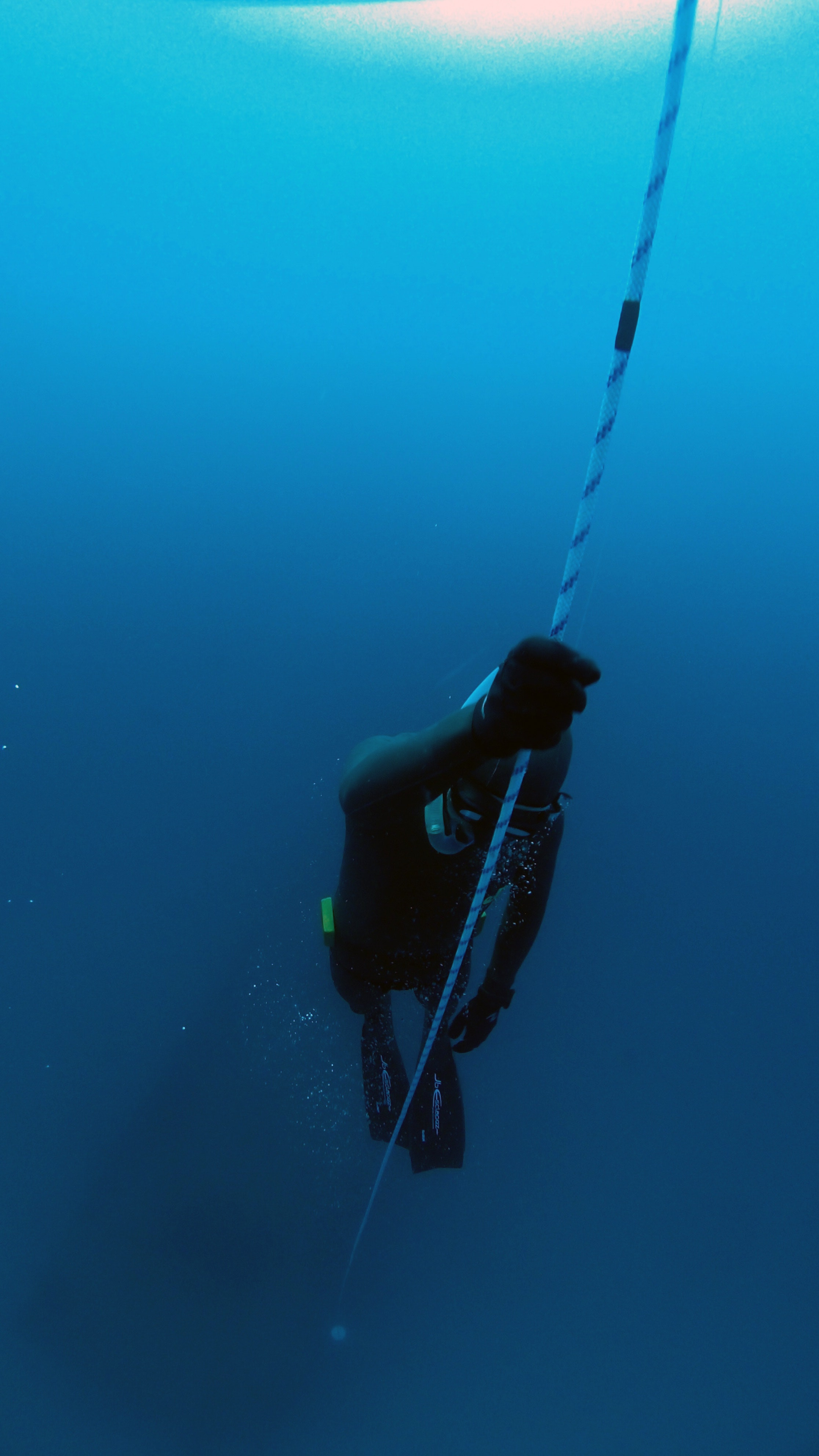Person Diving Underwater, Blue, Deep, Diver, Ocean, HQ Photo