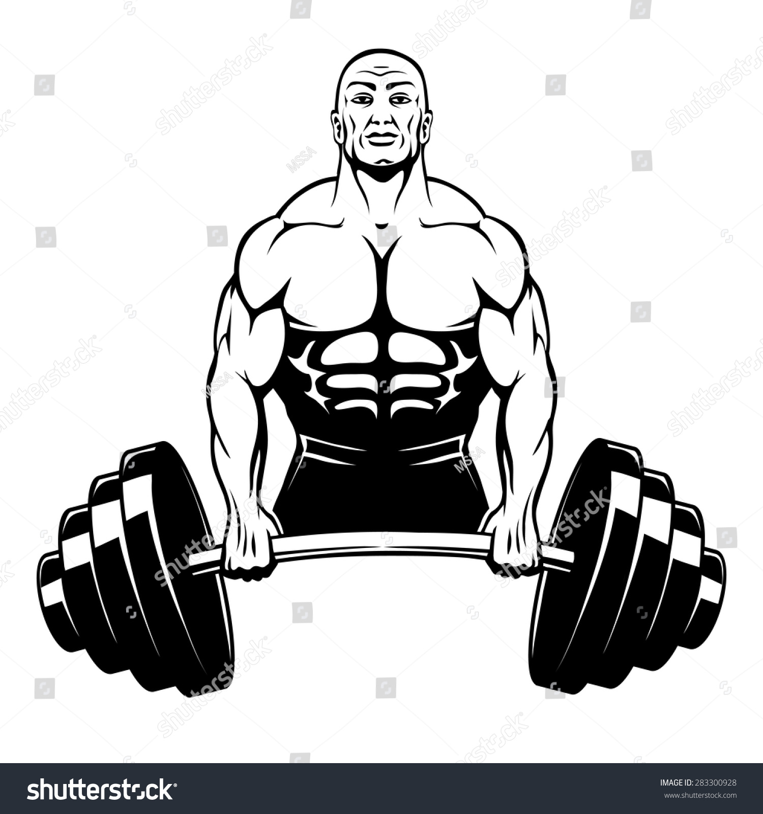 Royalty-free Vector muscle man bodybuilder holding a… #283300928 ...