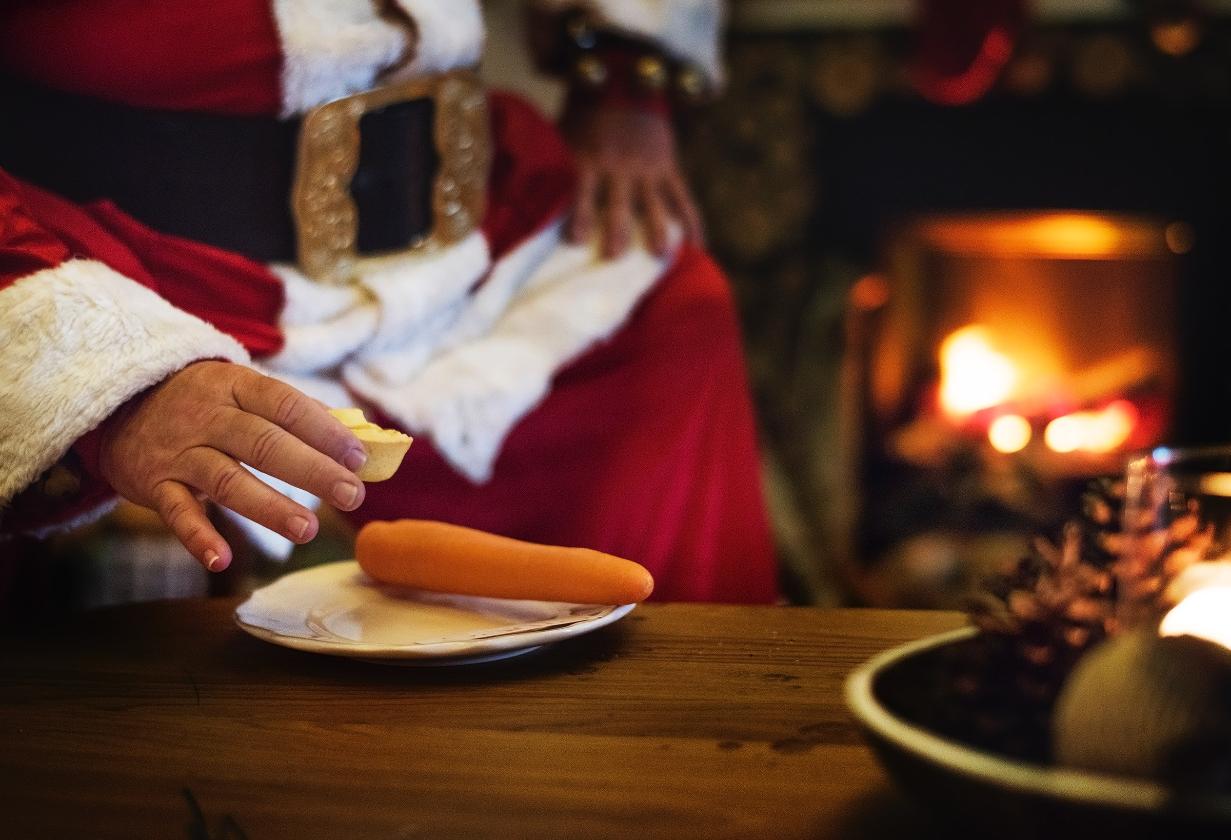 Person Holding Cheese Putting on White Plate, Adult, Merry christmas, Wood, Table, HQ Photo