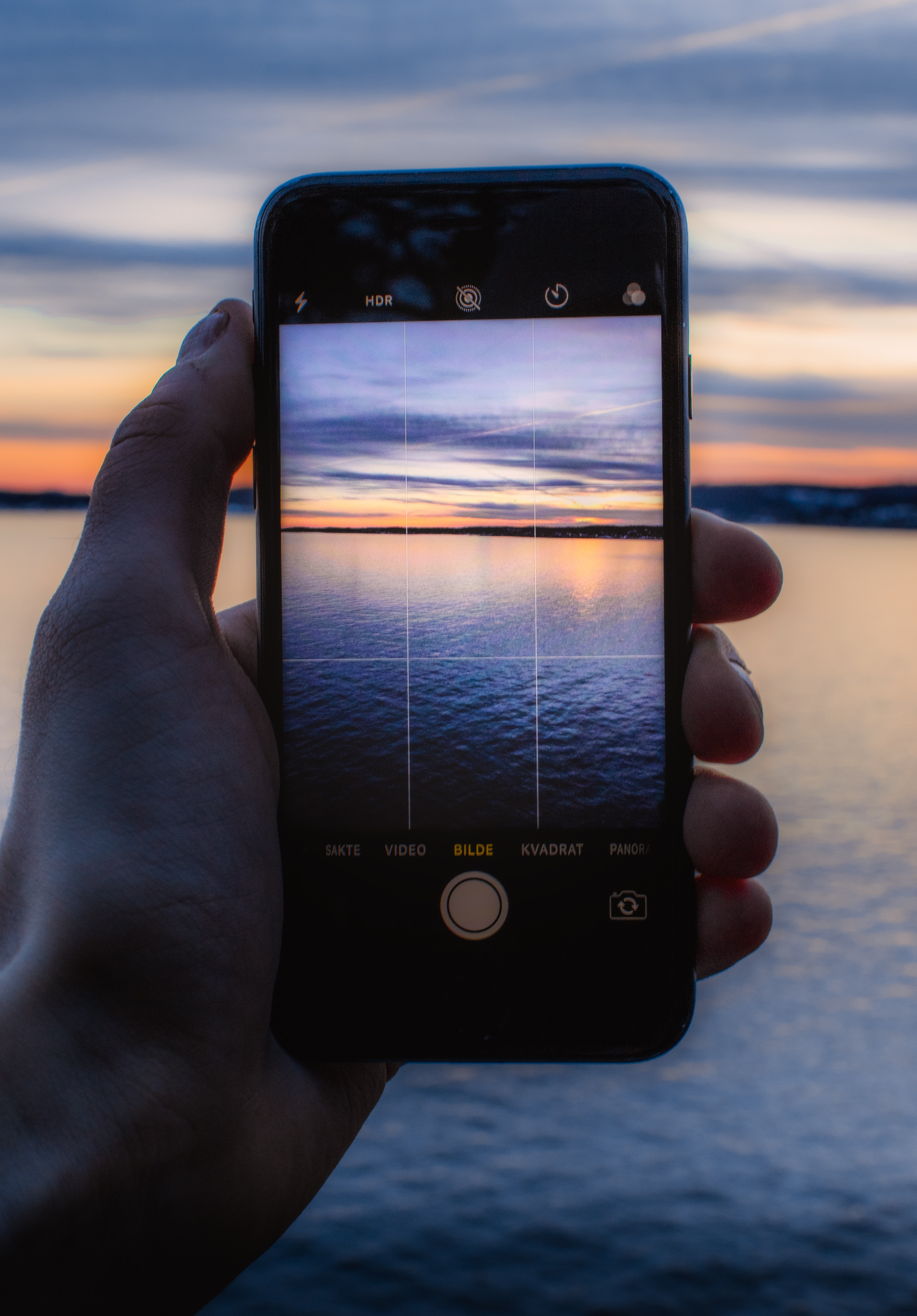 Person Holding Post-2014 Iphone Taking a Photo of Body of Water, Camera, Phone, Water, Views, HQ Photo