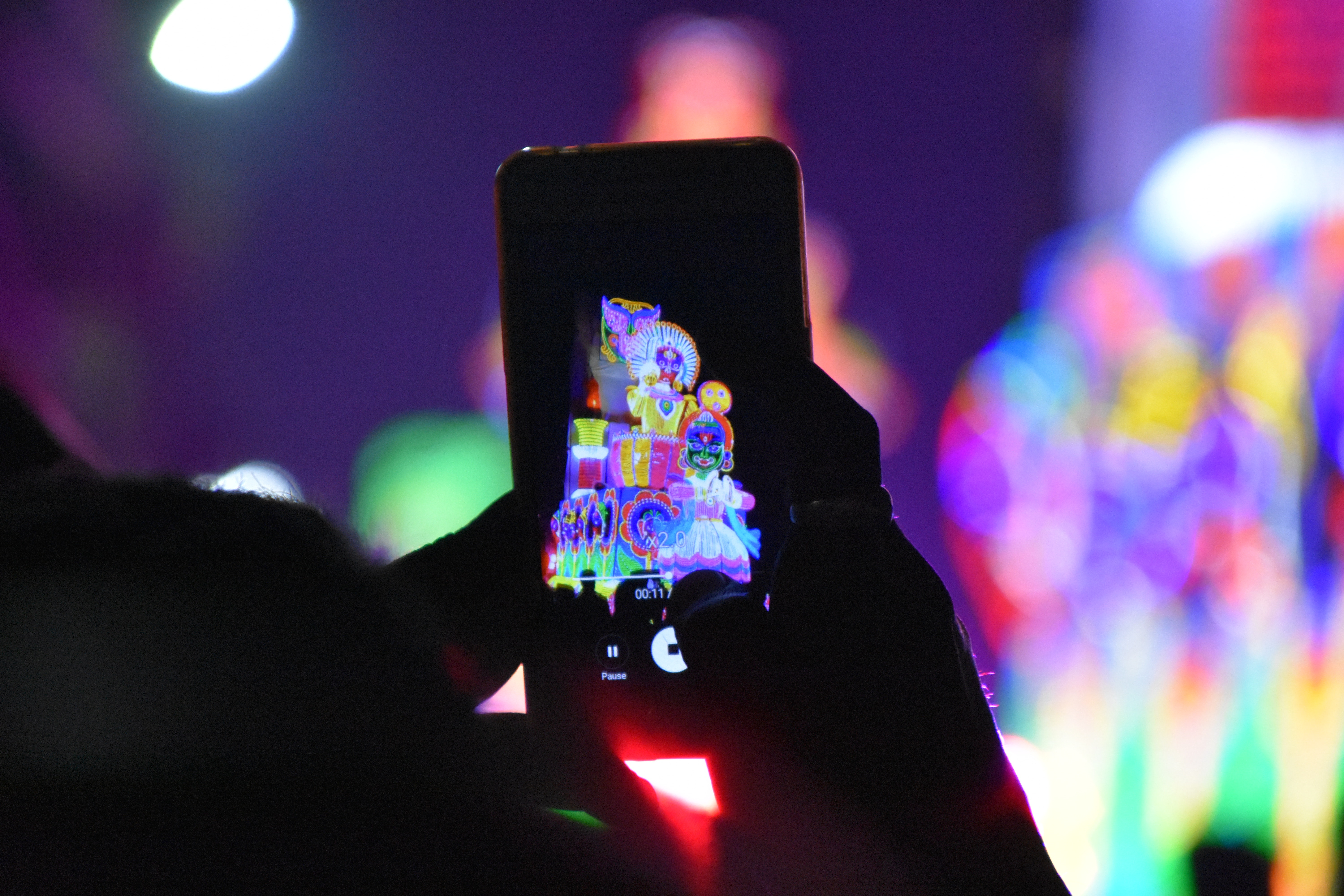 Person holding smartphone photo