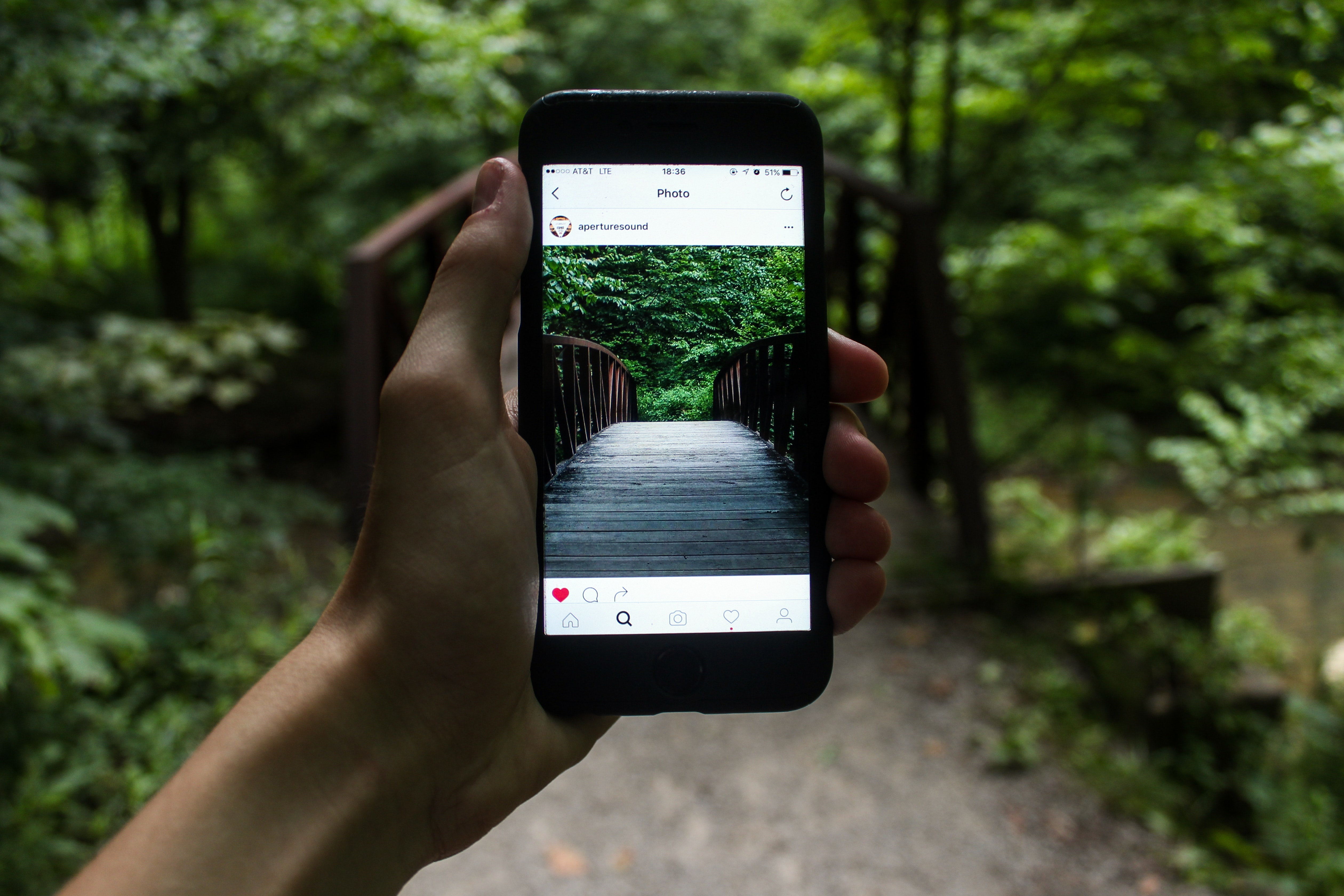 Person Holding Smartphone Taking Picture of Bridge during Daytime, App, Bridge, Gadget, Hand, HQ Photo
