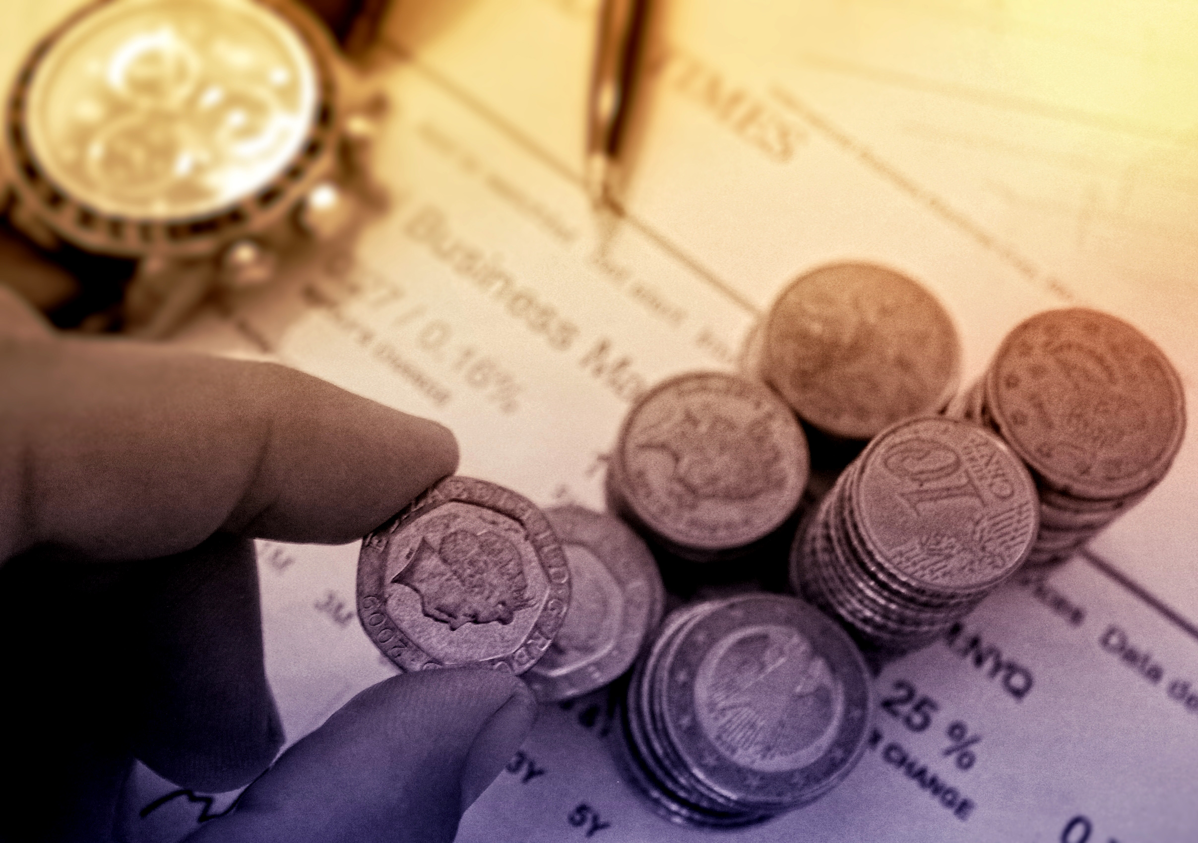 Person Picking a Coin - Money and Finance Concept, Accounting, Object, Price, Pound, HQ Photo
