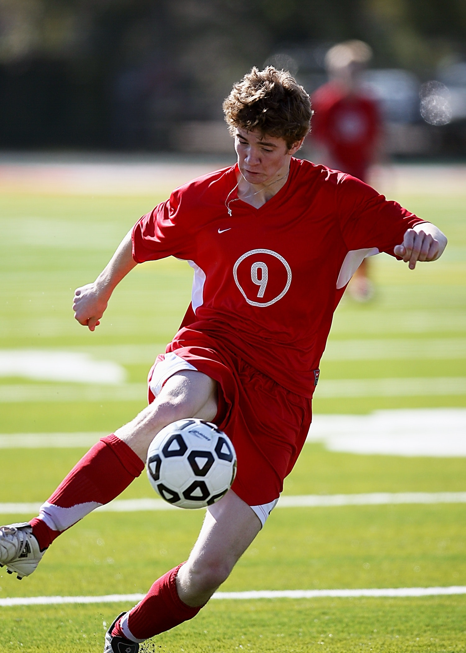 Person playing soccer photo