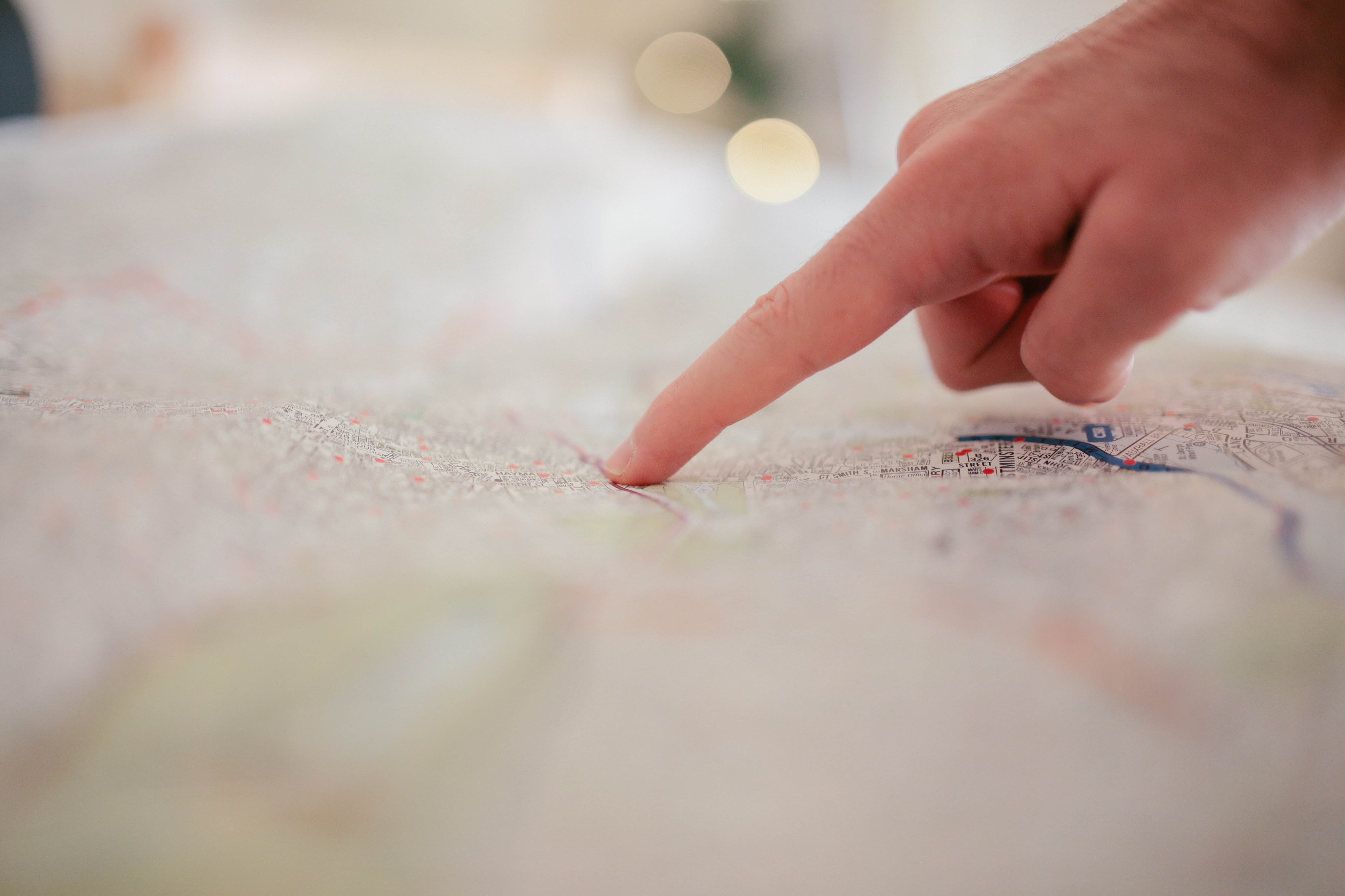 Person Pointing on White Textile, Pointing, Map, Hand, Direction, HQ Photo