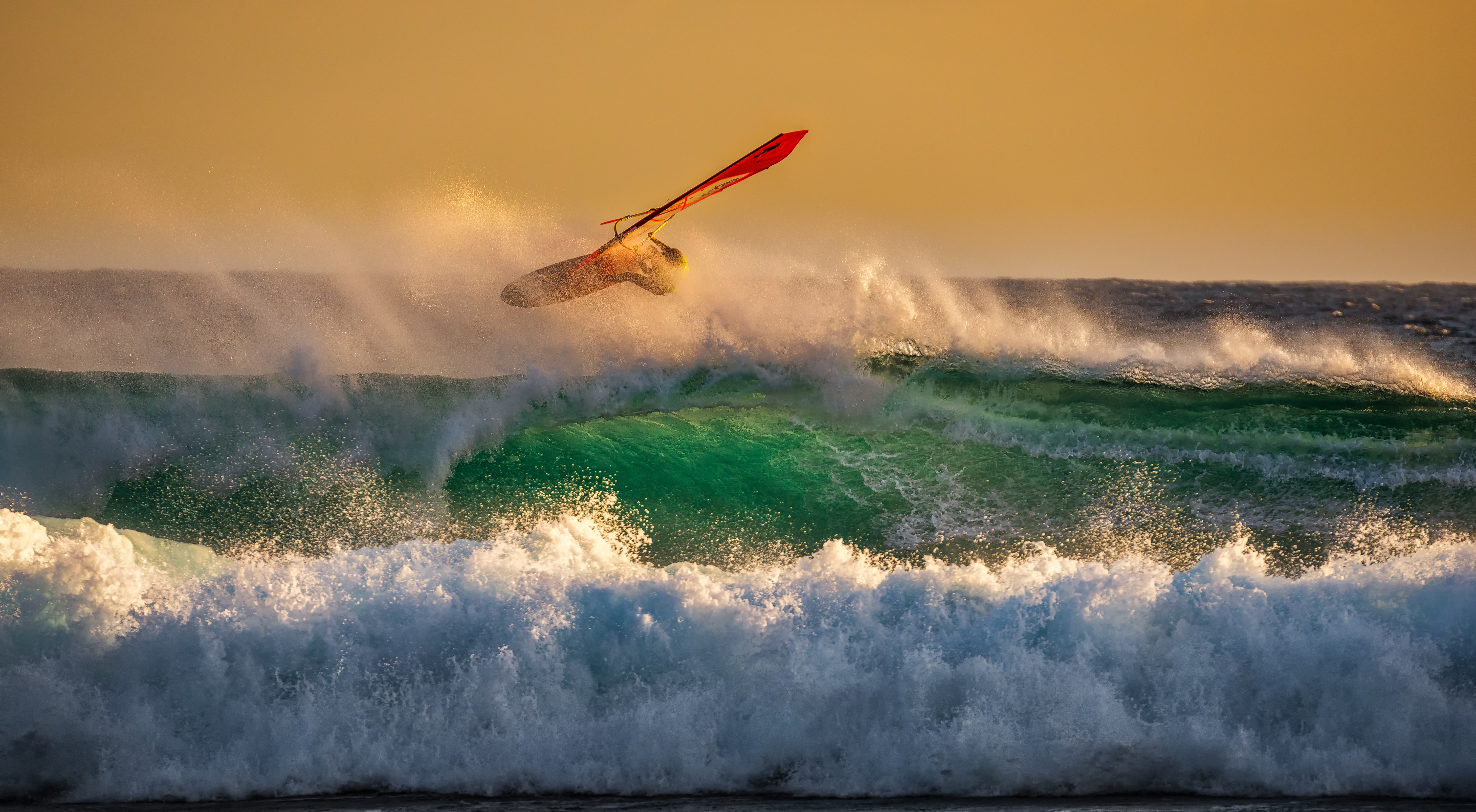 Person Ridding Wind Boat Above Ocean Wave, Action, Travel, Storm, Summer, HQ Photo