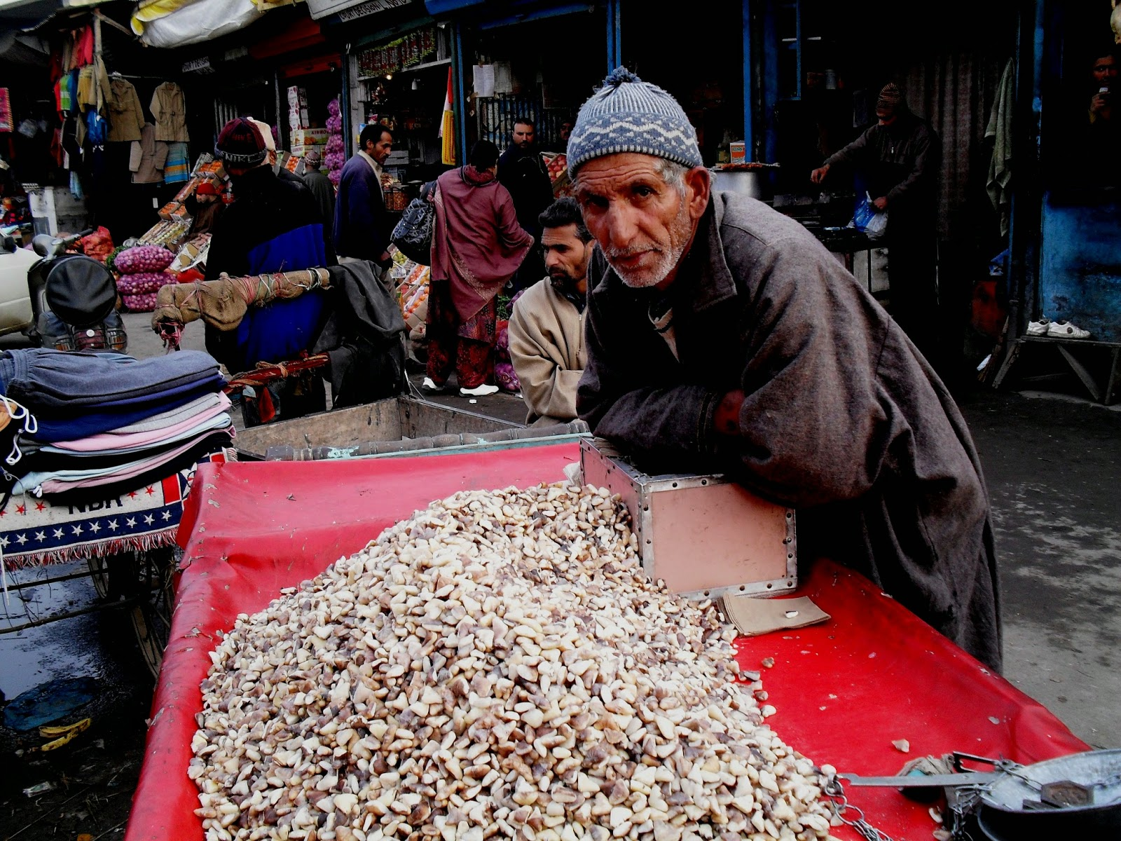 CHINAR SHADE : WATER CHESTNUT KERNELS ( MESSA OR GOEJJI ) OF KASHMIR.