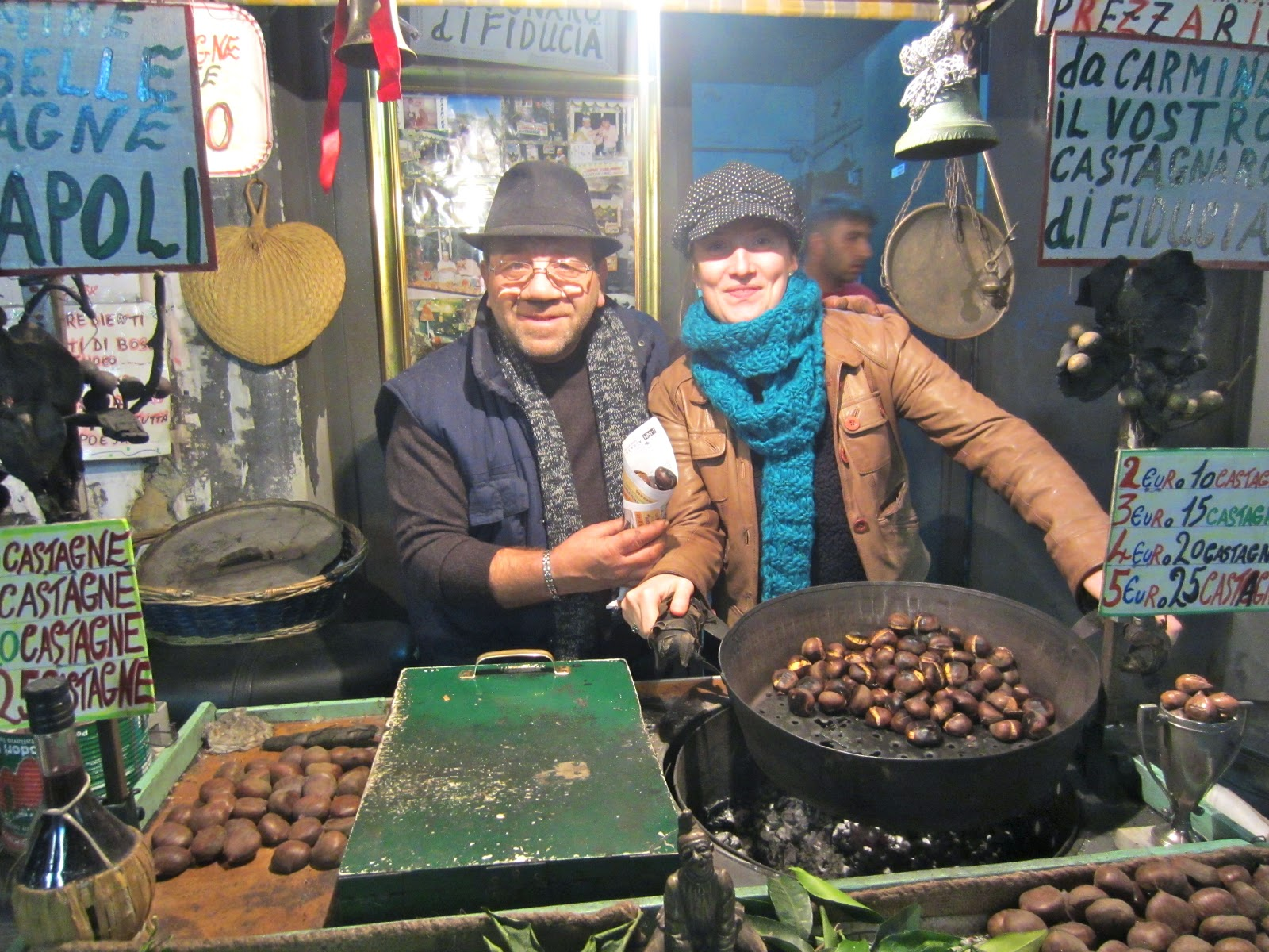 Chestnuts roasting on an open fire.... | Saluto Italia - the Italian ...
