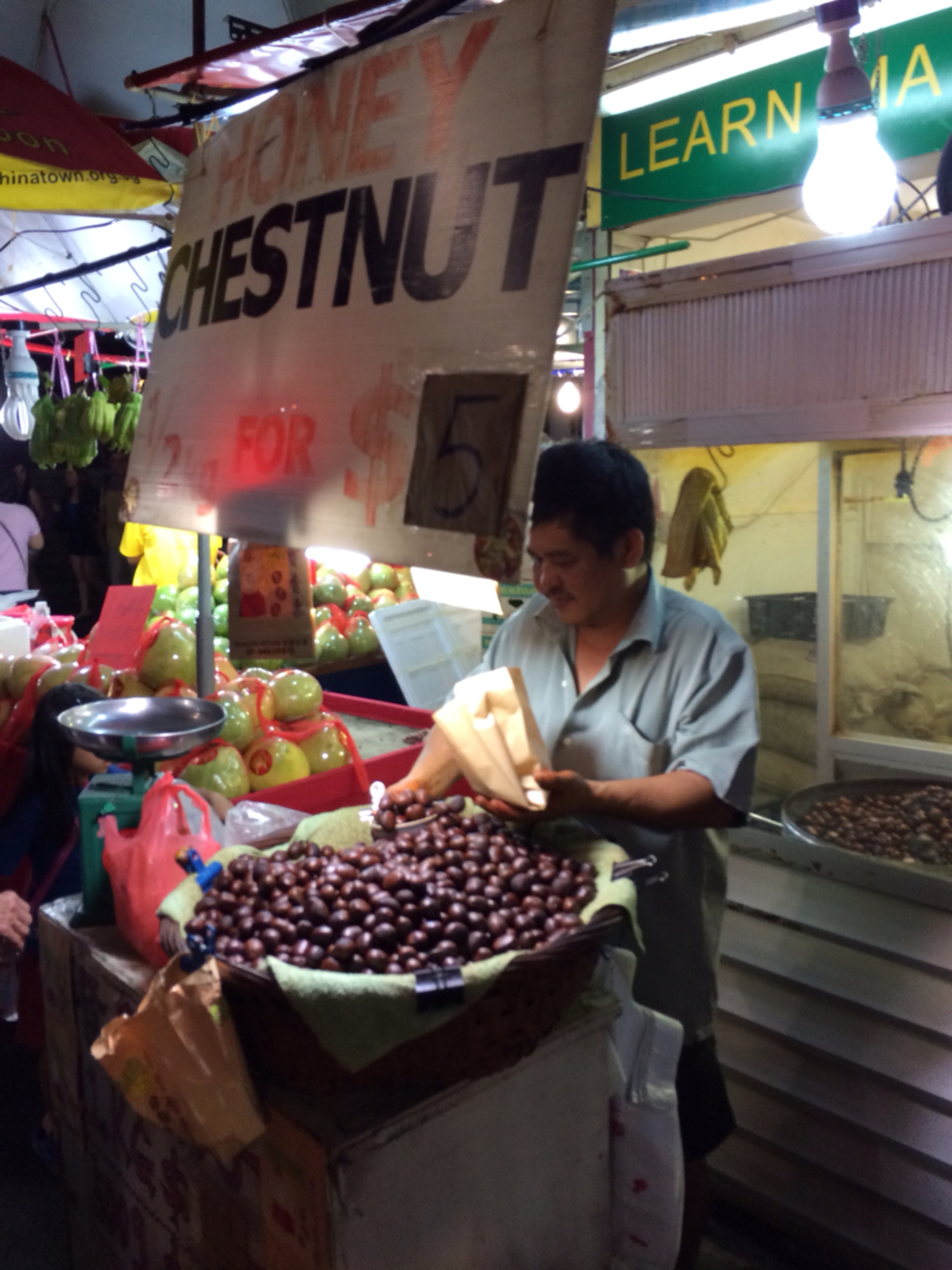 Da Dong Restaurant Pte Ltd, Singapore - Honey roasted chestnuts....