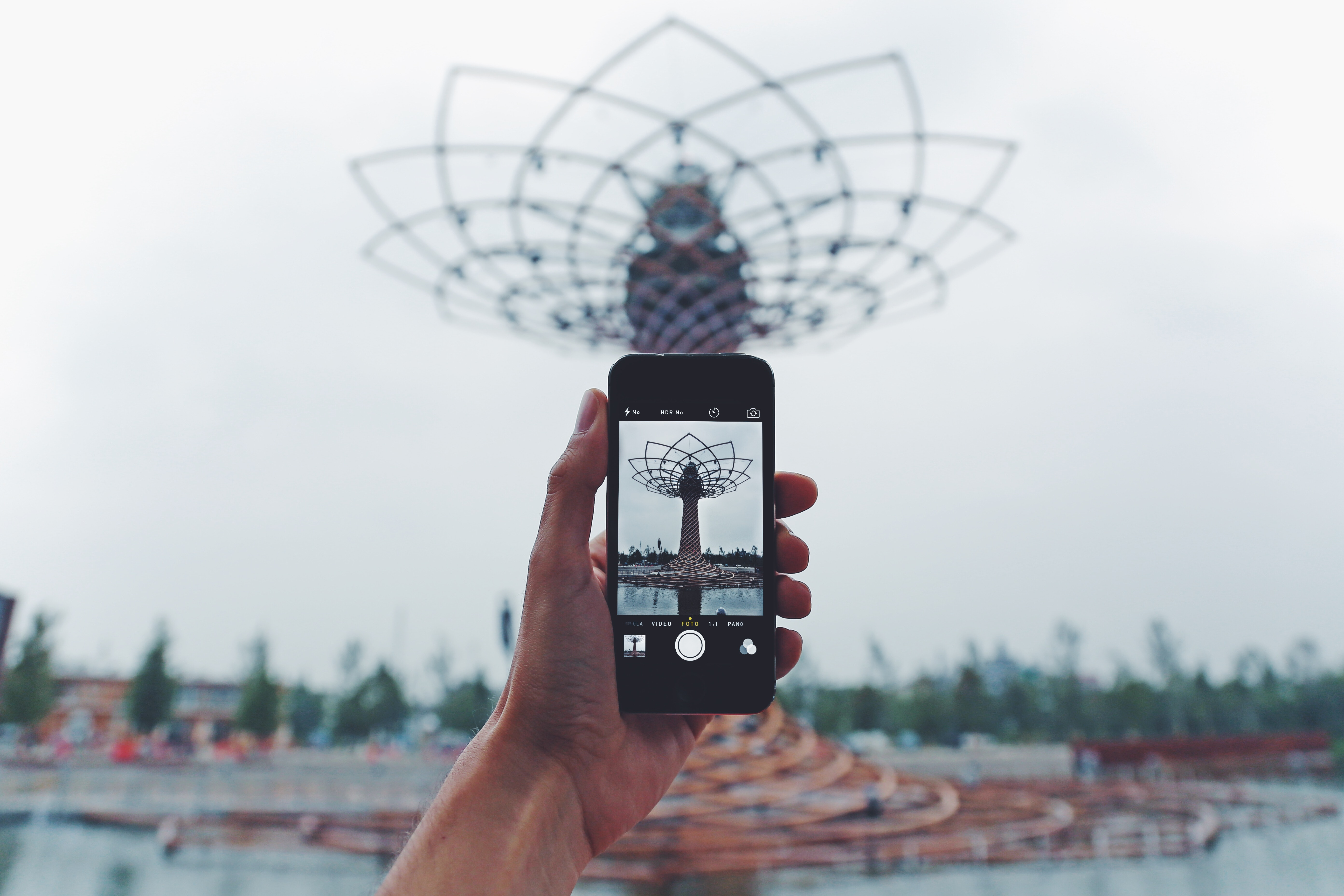 Person Taking Photo of Tower, Architecture, Mobile, Tower, Touchscreen, HQ Photo